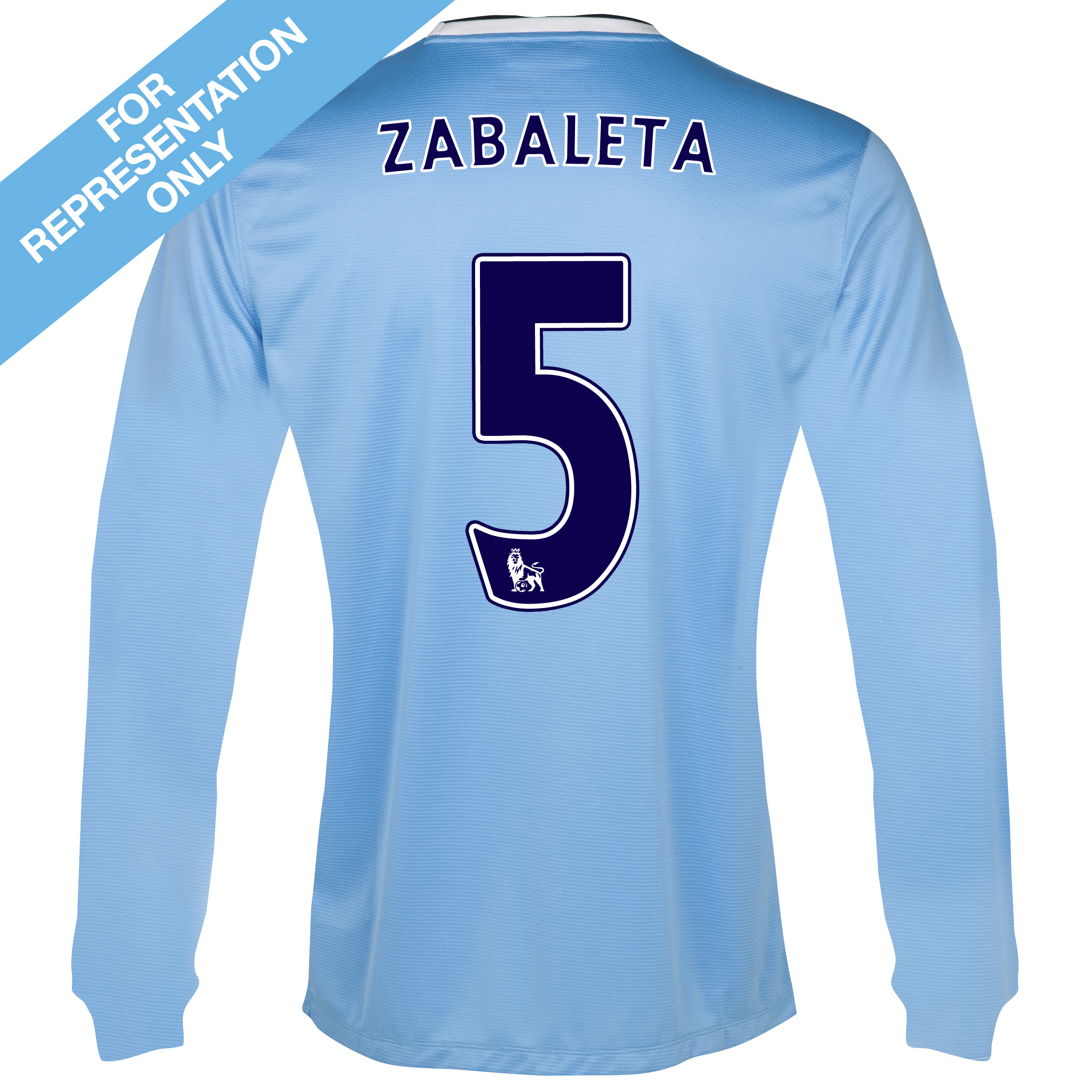 Manchester City Home Shirt 2013/14 - Long Sleeved - Junior with Zabaleta 5 printing