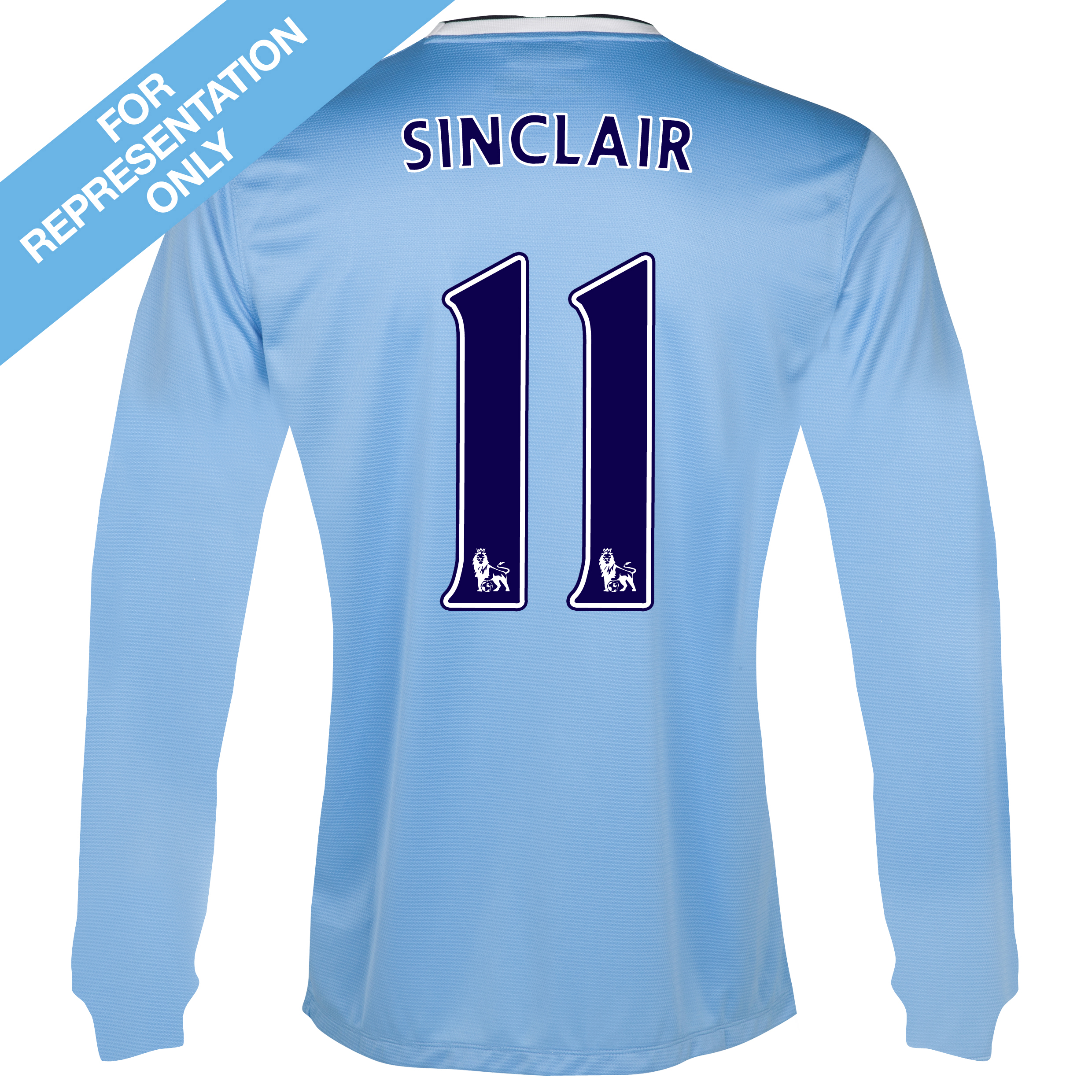 Manchester City Home Shirt 2013/14 - Long Sleeved - Junior with Sinclair 11 printing