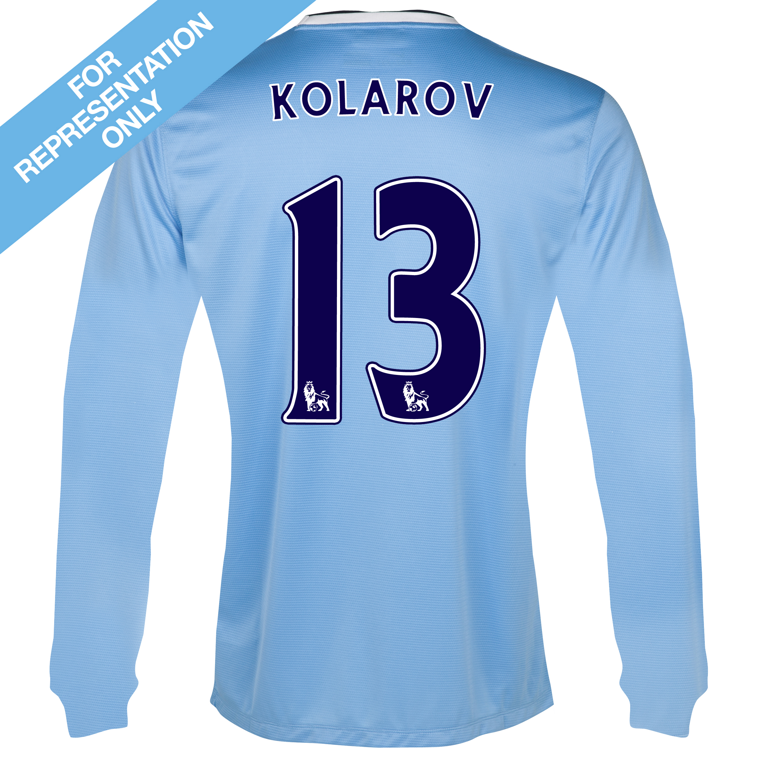 Manchester City Home Shirt 2013/14 - Long Sleeved - Junior with Kolarov 13 printing
