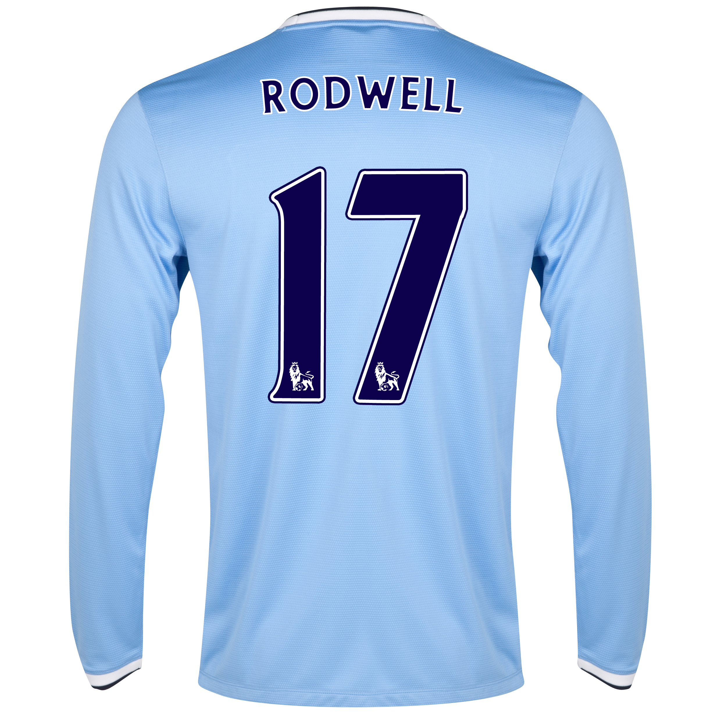 Manchester City Home Shirt 2013/14 - Long Sleeved - Junior with Rodwell 17 printing