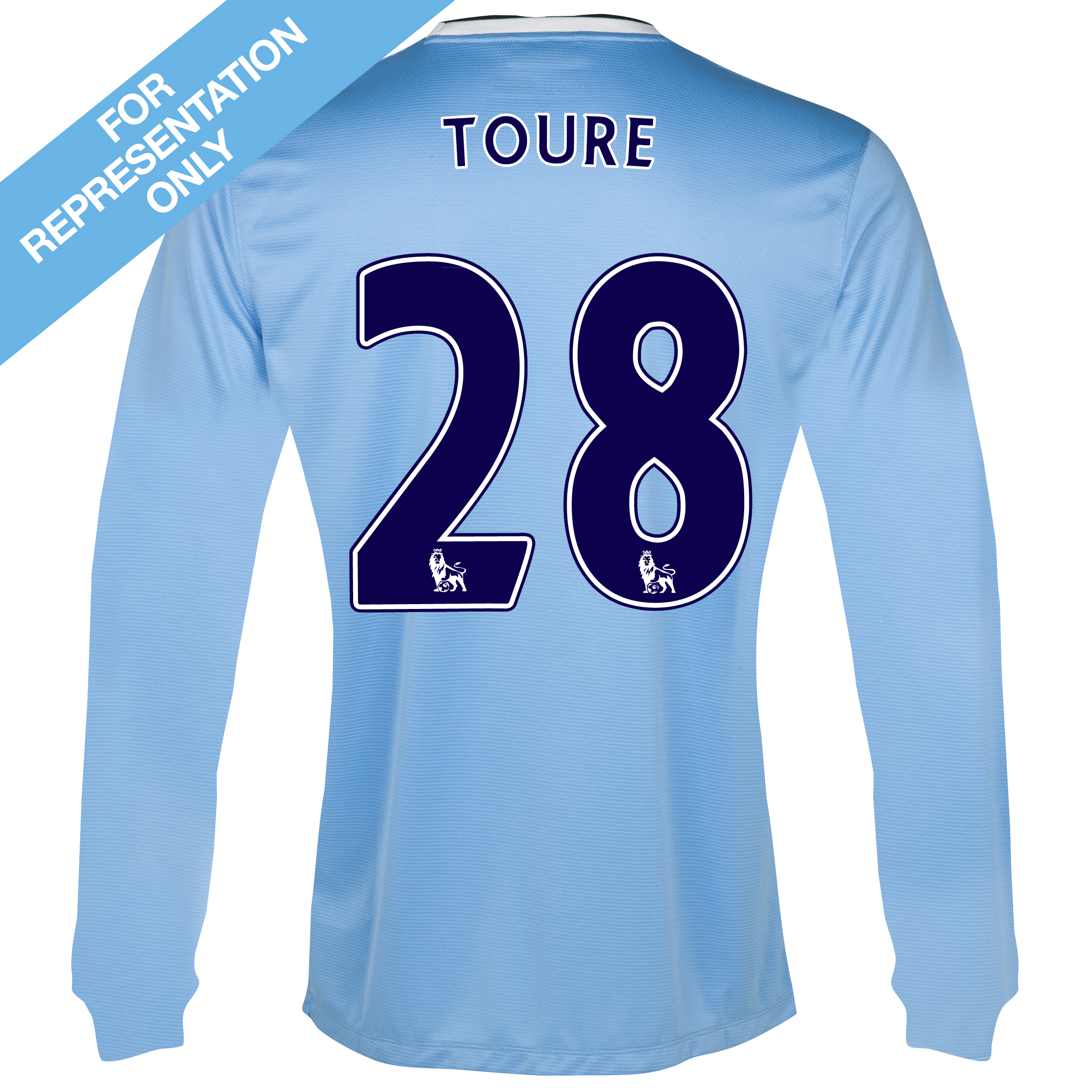 Manchester City Home Shirt 2013/14 - Long Sleeved - Junior with Toure 28 printing