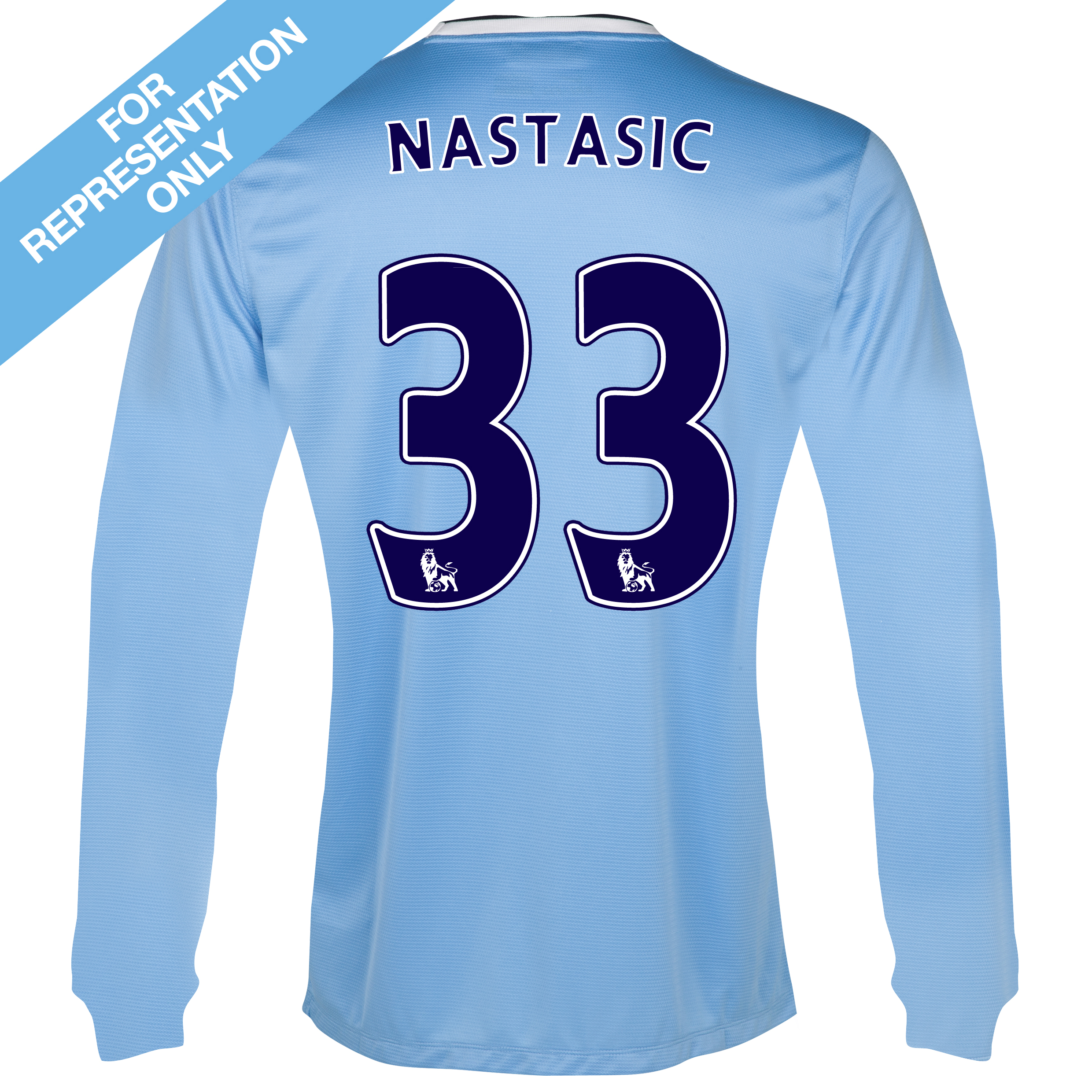 Manchester City Home Shirt 2013/14 - Long Sleeved - Junior with Nastasic 33 printing