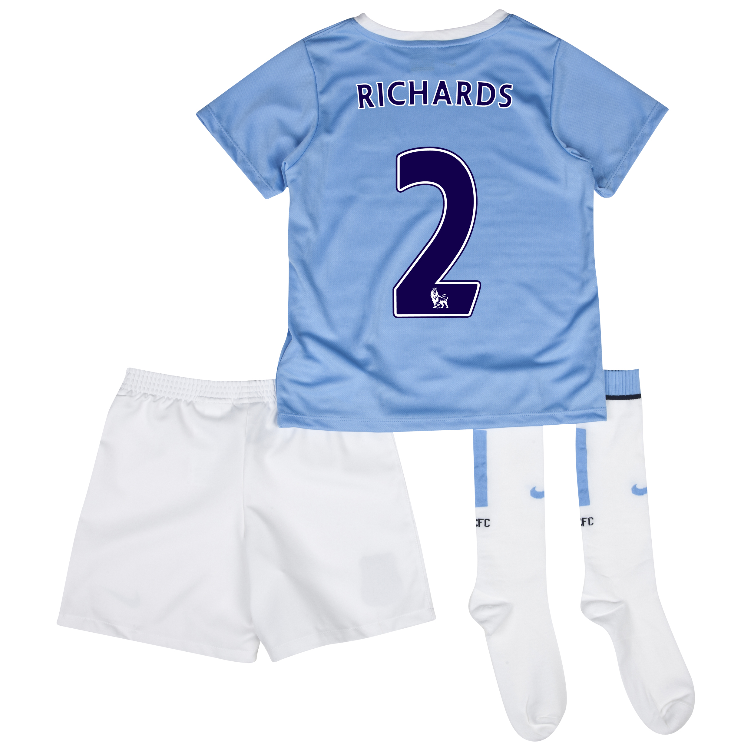 Manchester City Home Little Boys Kit 2013/14 with Richards 2 printing