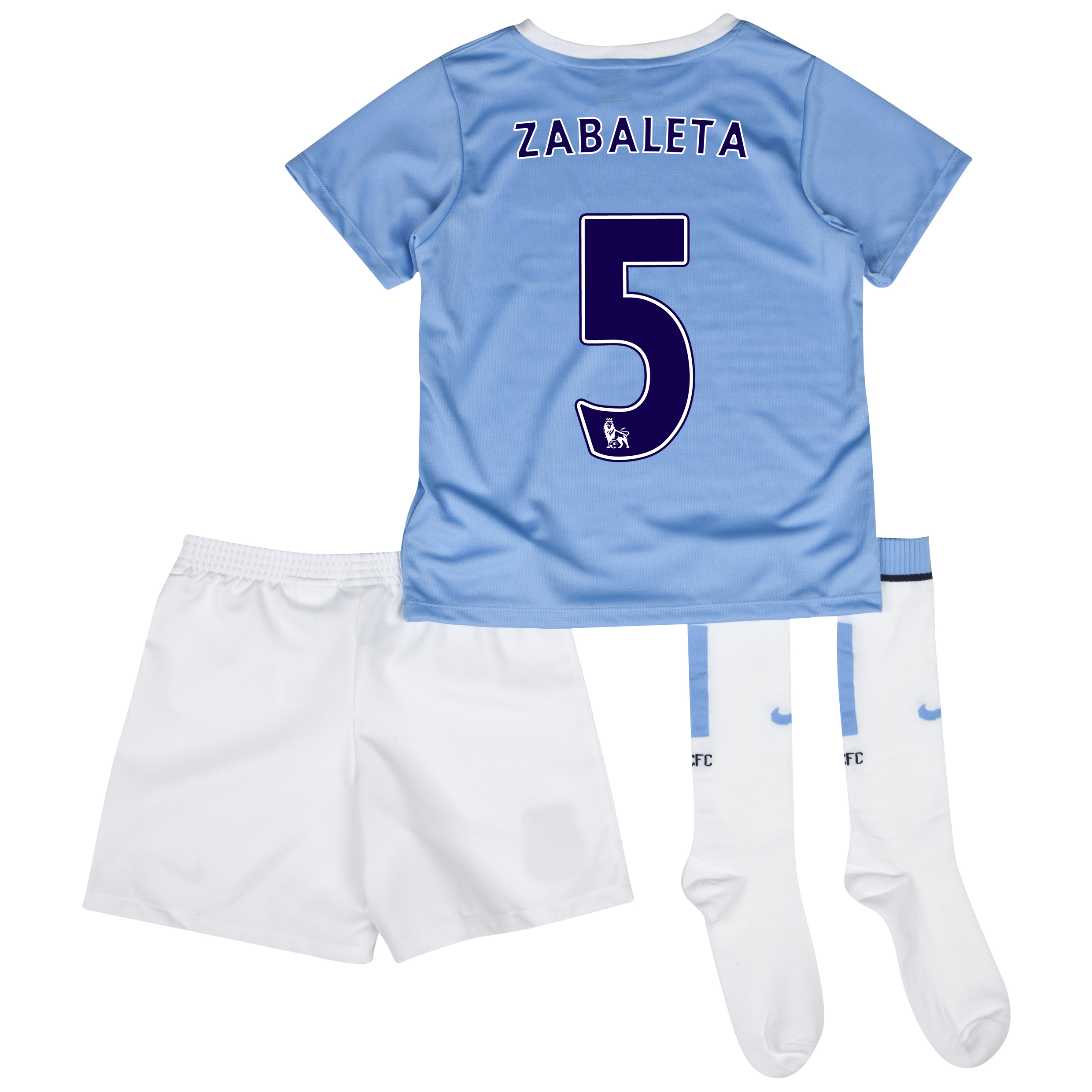 Manchester City Home Little Boys Kit 2013/14 with Zabaleta 5 printing