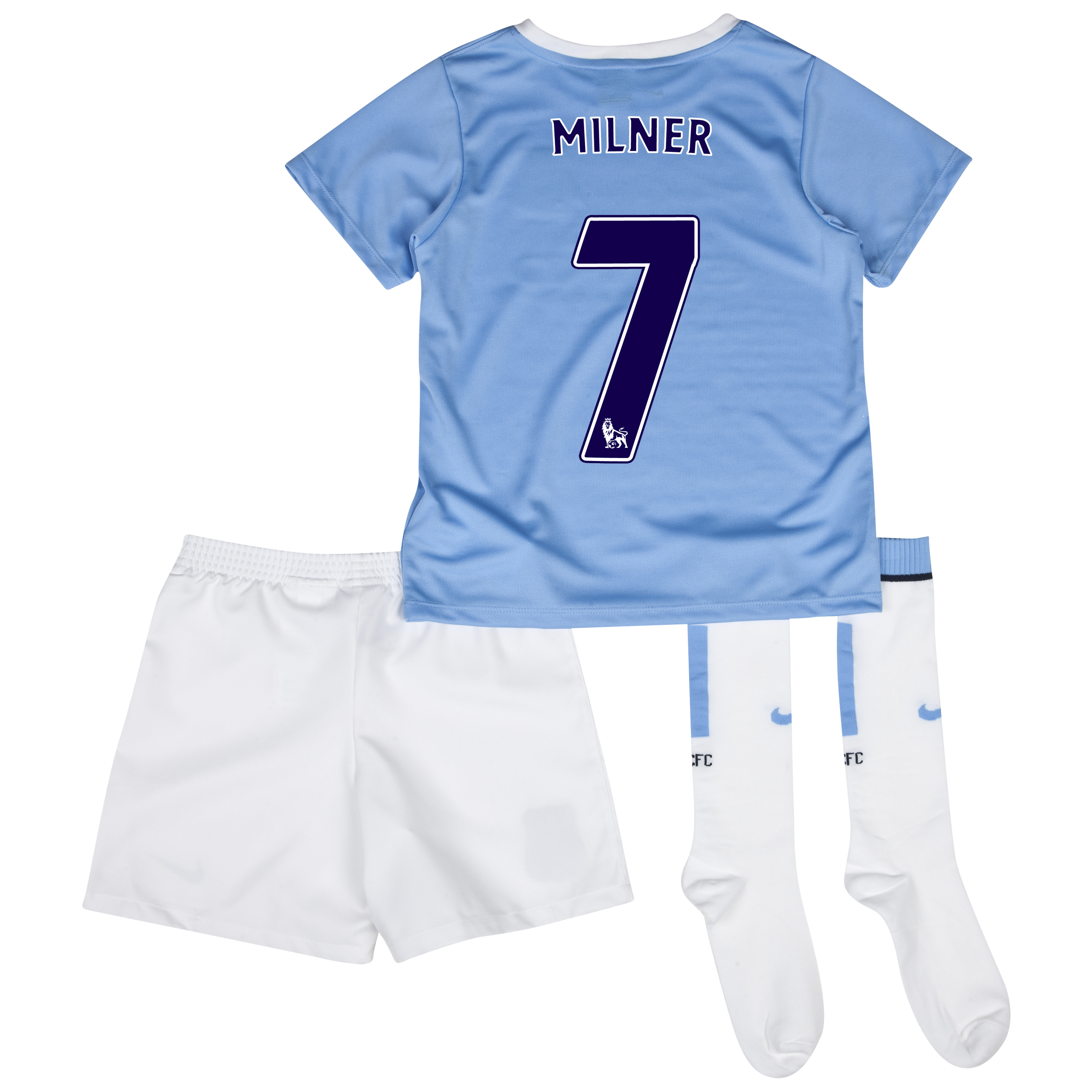 Manchester City Home Little Boys Kit 2013/14 with Milner 7 printing