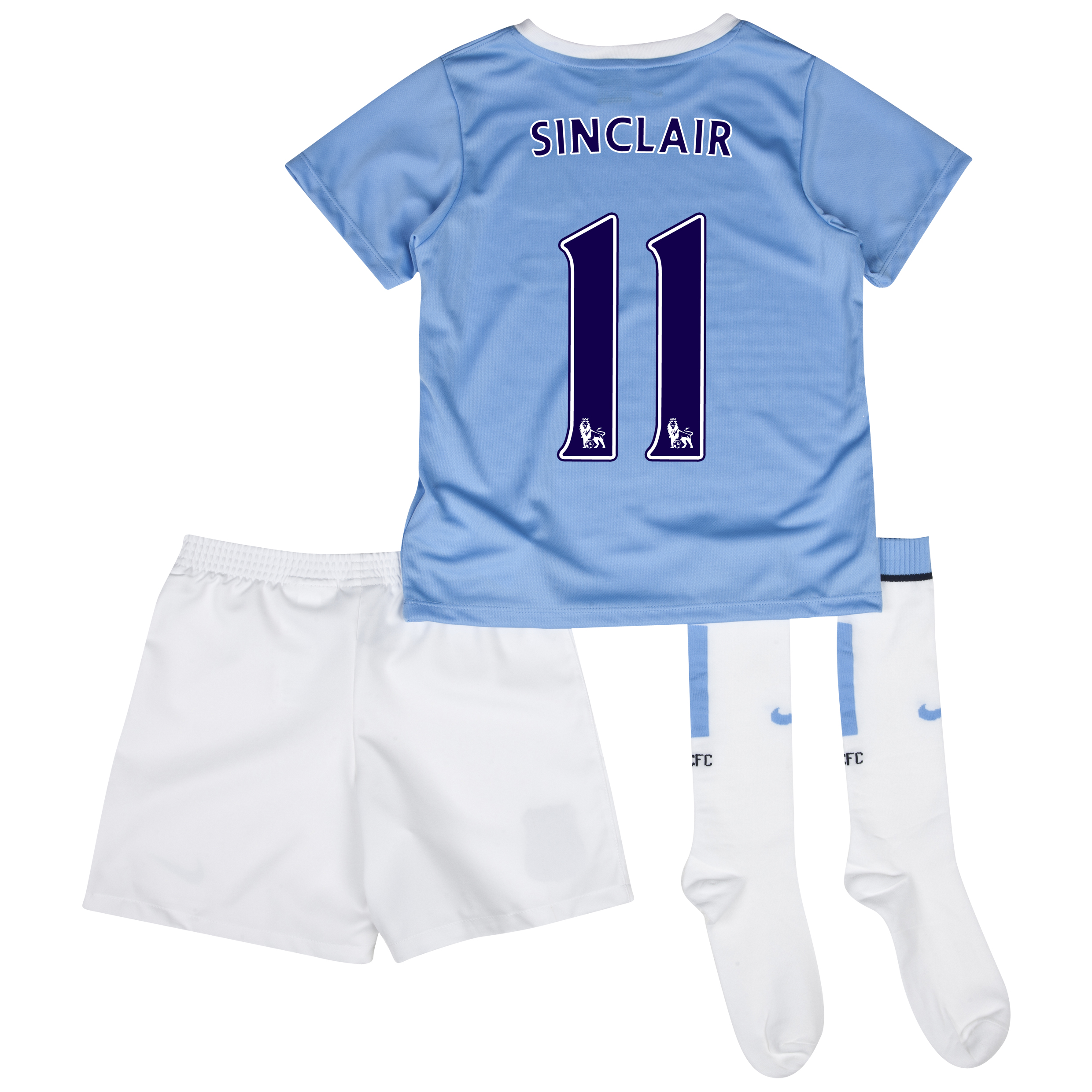 Manchester City Home Little Boys Kit 2013/14 with Sinclair 11 printing