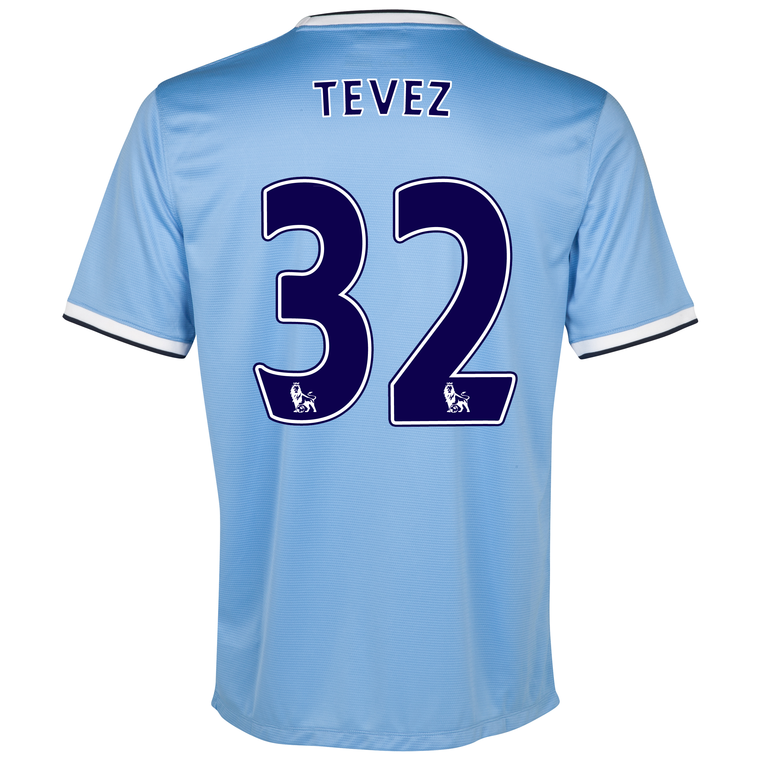Manchester City Home Little Boys Kit 2013/14 with Tevez 32 printing