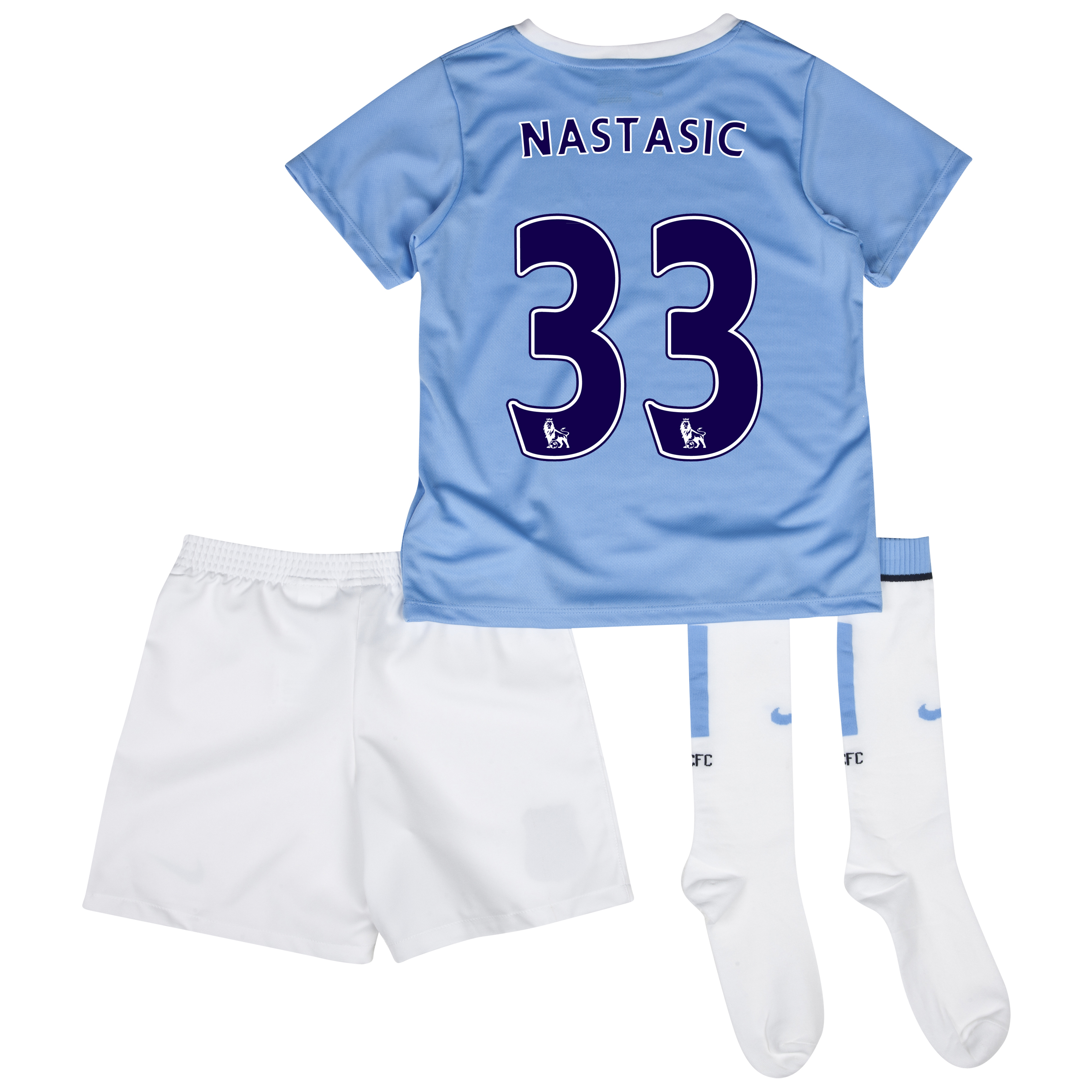 Manchester City Home Little Boys Kit 2013/14 with Nastasic 33 printing