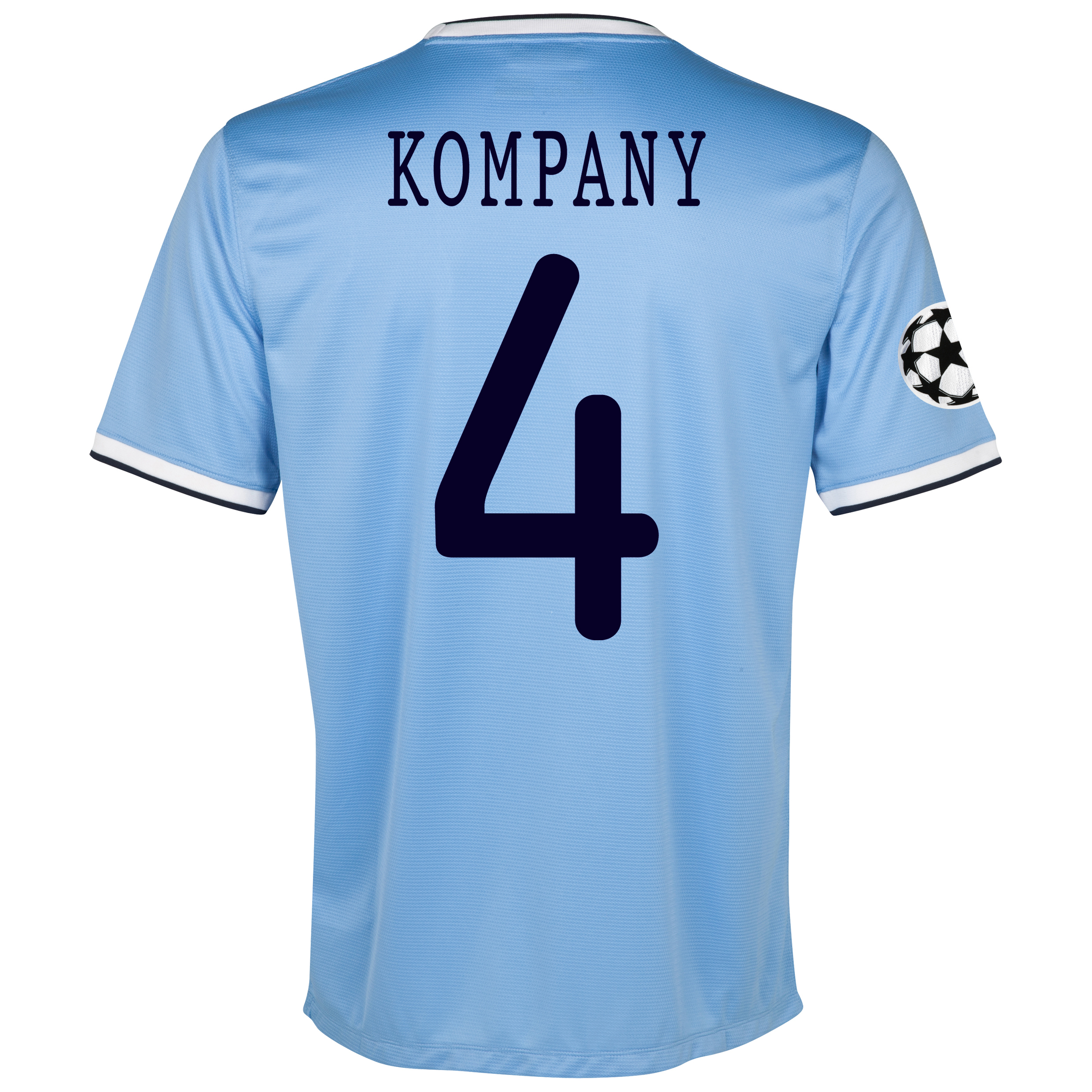 Manchester City UEFA Champions League Home Shirt 2013/14 with Kompany 4 printing
