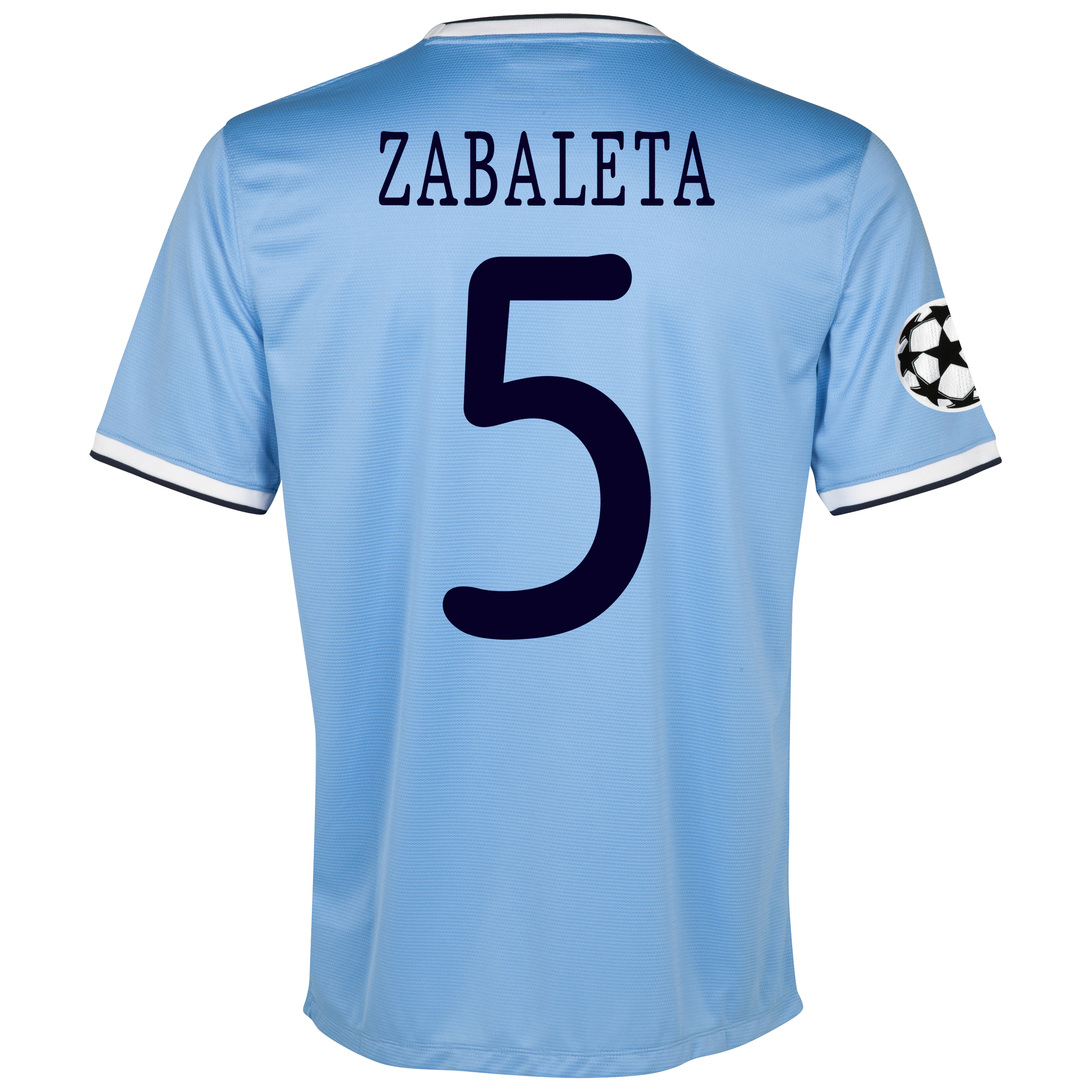 Manchester City UEFA Champions League Home Shirt 2013/14 with Zabaleta 5 printing