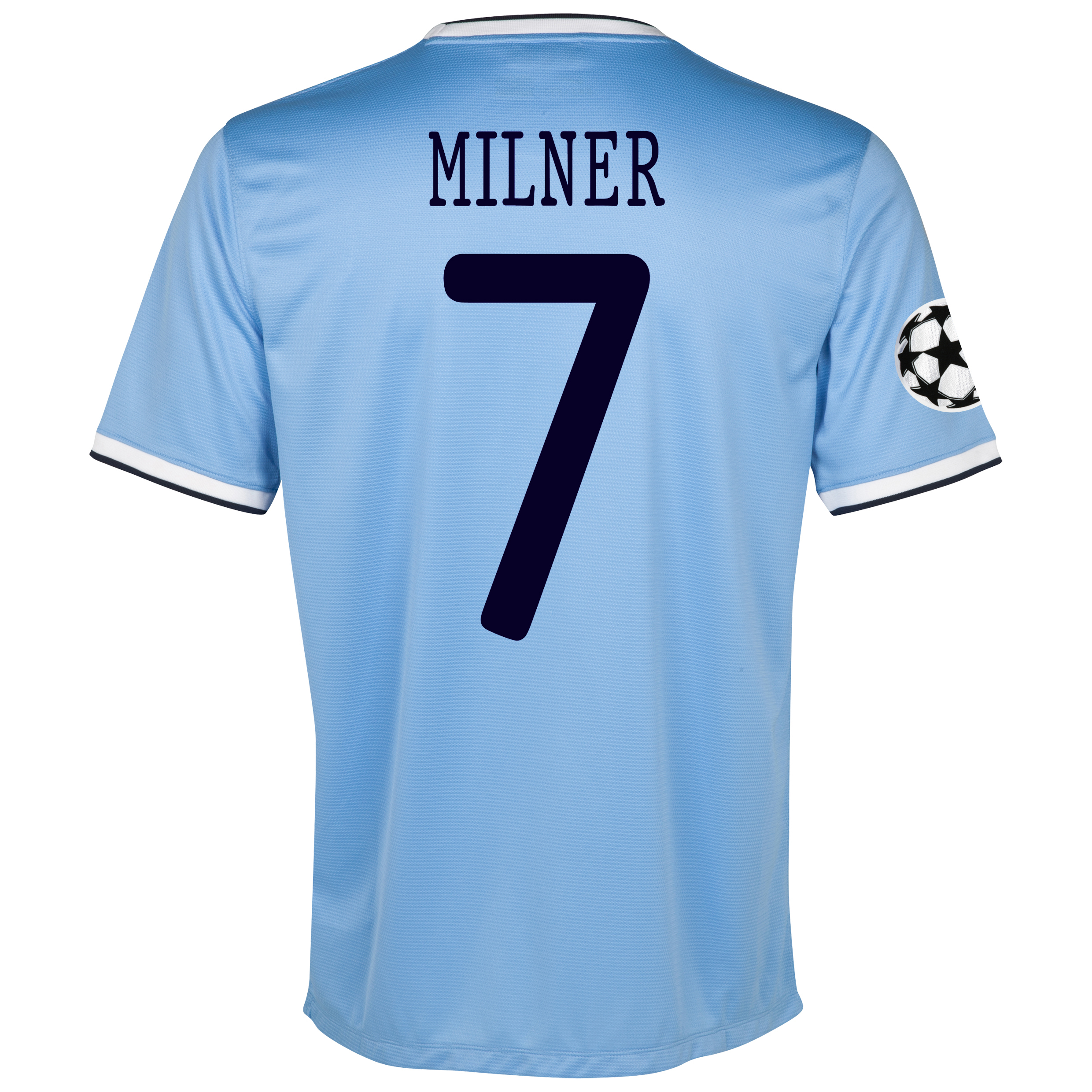 Manchester City UEFA Champions League Home Shirt 2013/14 with Milner 7 printing