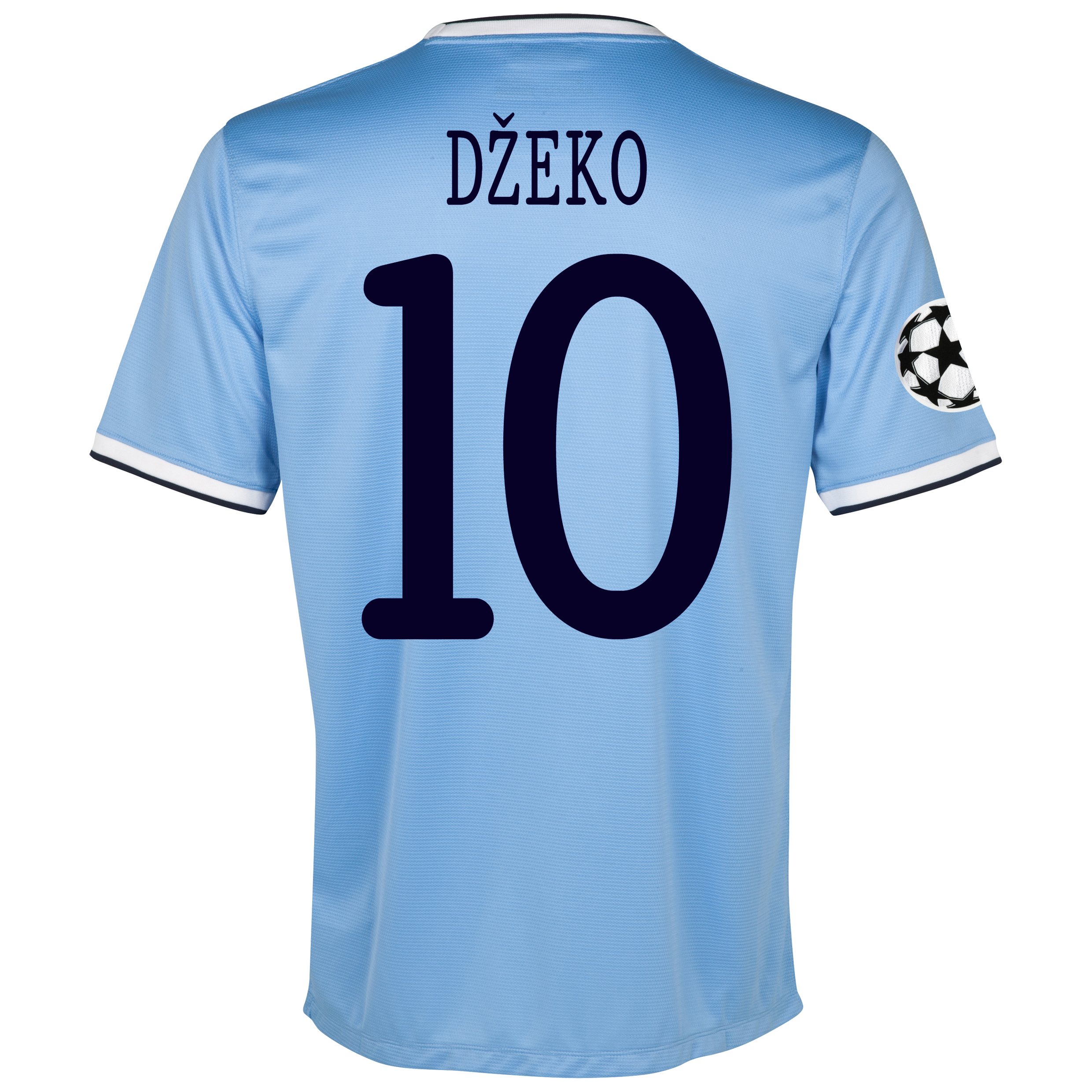 Manchester City UEFA Champions League Home Shirt 2013/14 with Dzeko 10 printing