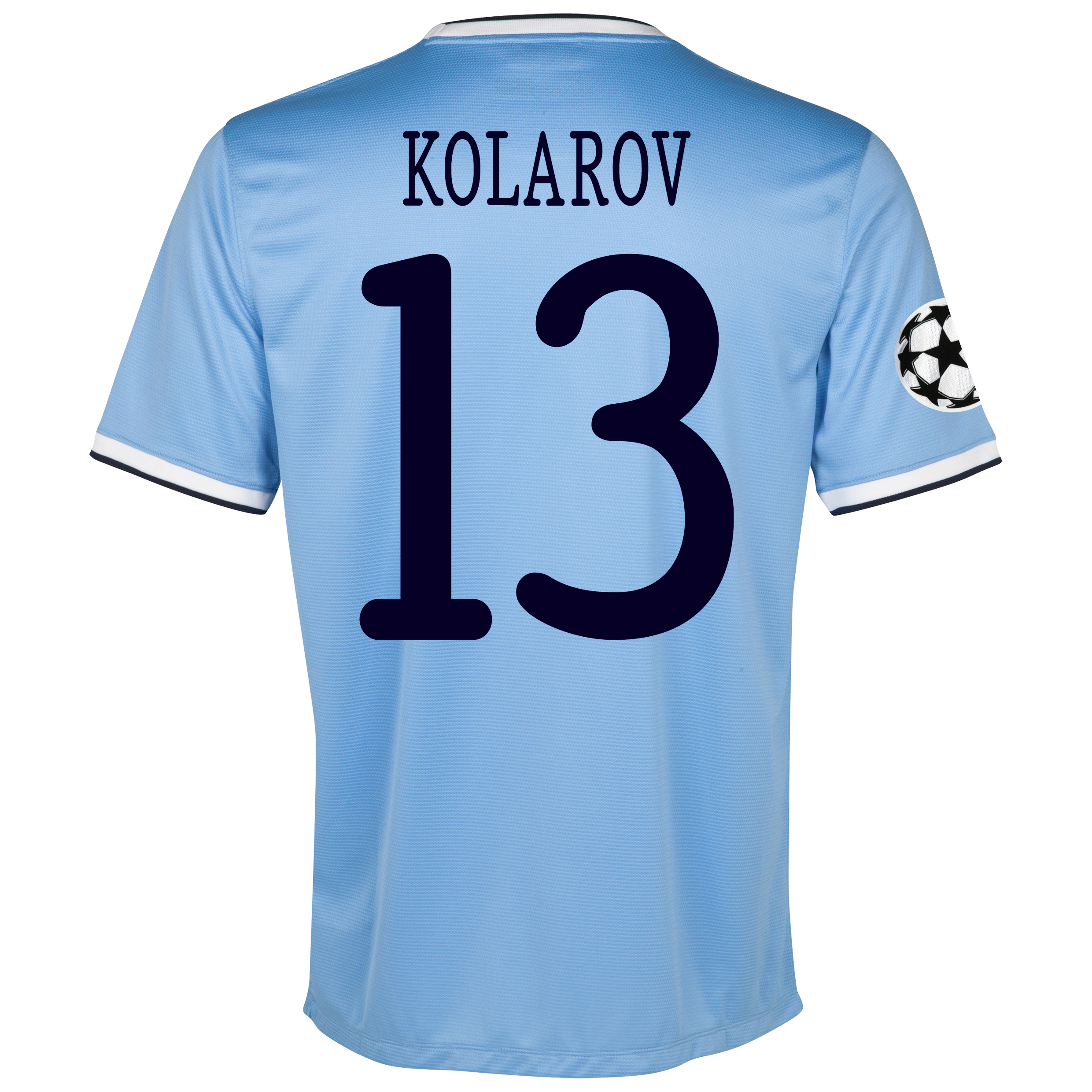 Manchester City UEFA Champions League Home Shirt 2013/14 with Kolarov 13 printing
