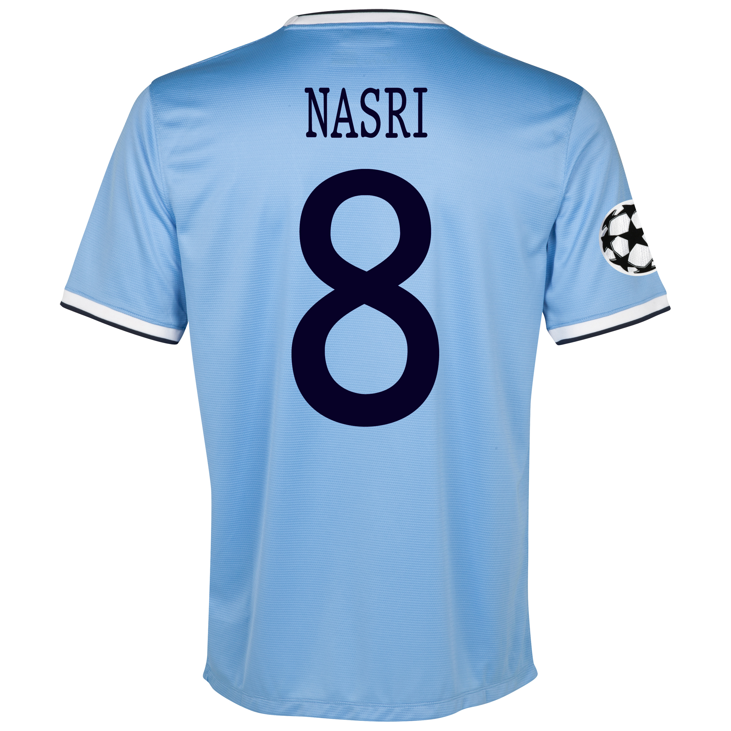 Manchester City UEFA Champions League Home Shirt 2013/14 - Junior with Nasri 8 printing