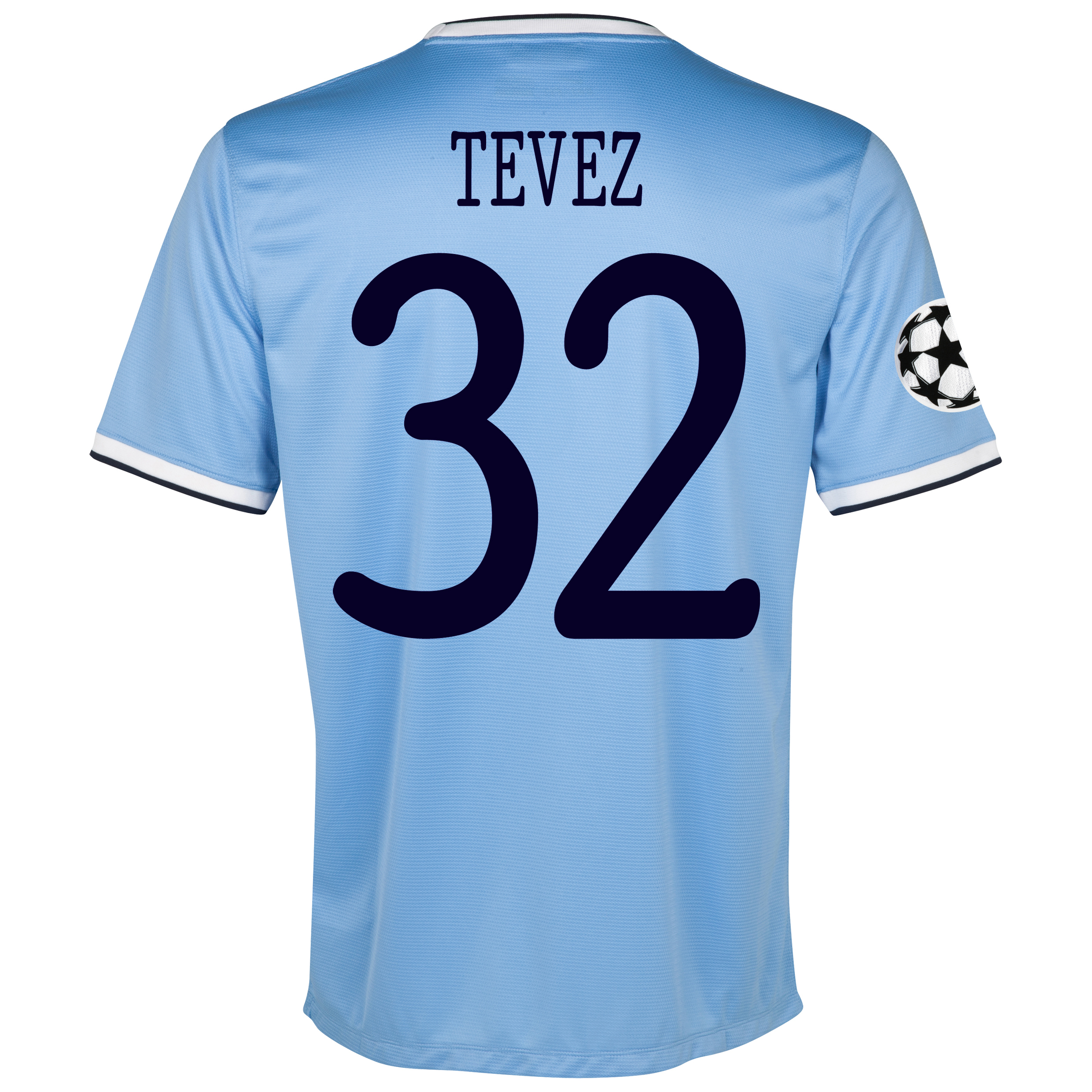 Manchester City UEFA Champions League Home Shirt 2013/14 - Junior with Tevez 32 printing