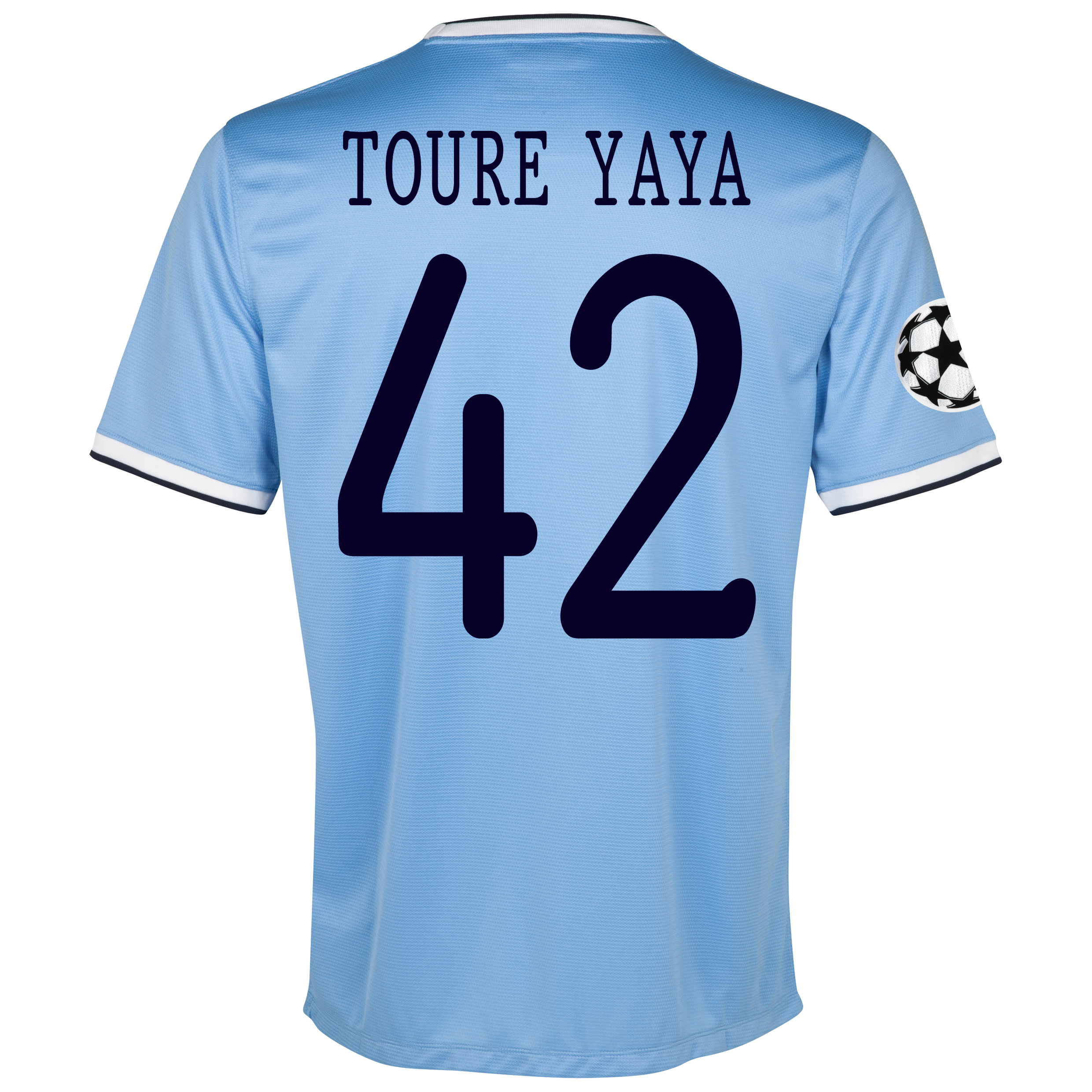 Manchester City UEFA Champions League Home Shirt 2013/14 - Junior with Toure Yaya 42 printing