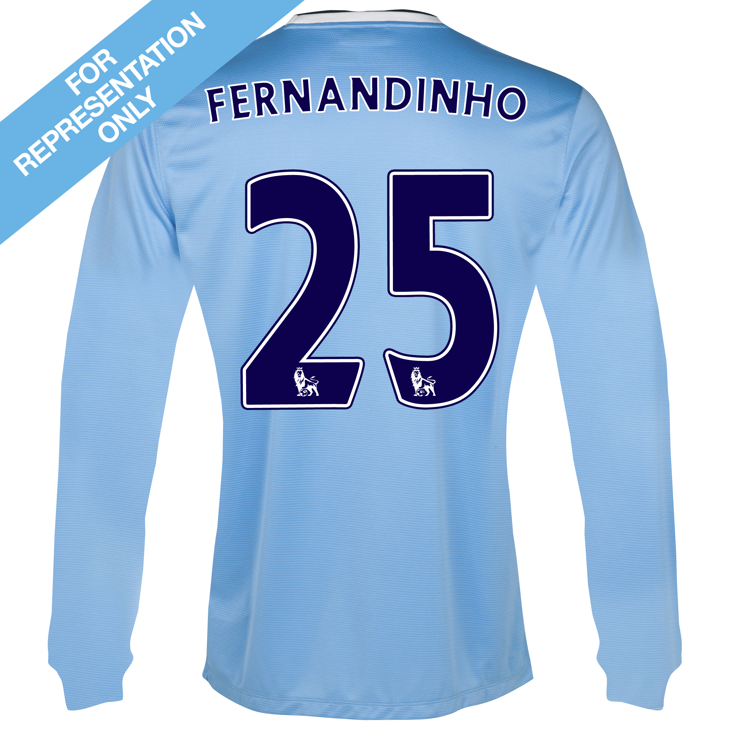 Manchester City Home Shirt 2013/14 - Long Sleeved with Fernandinho 25 printing