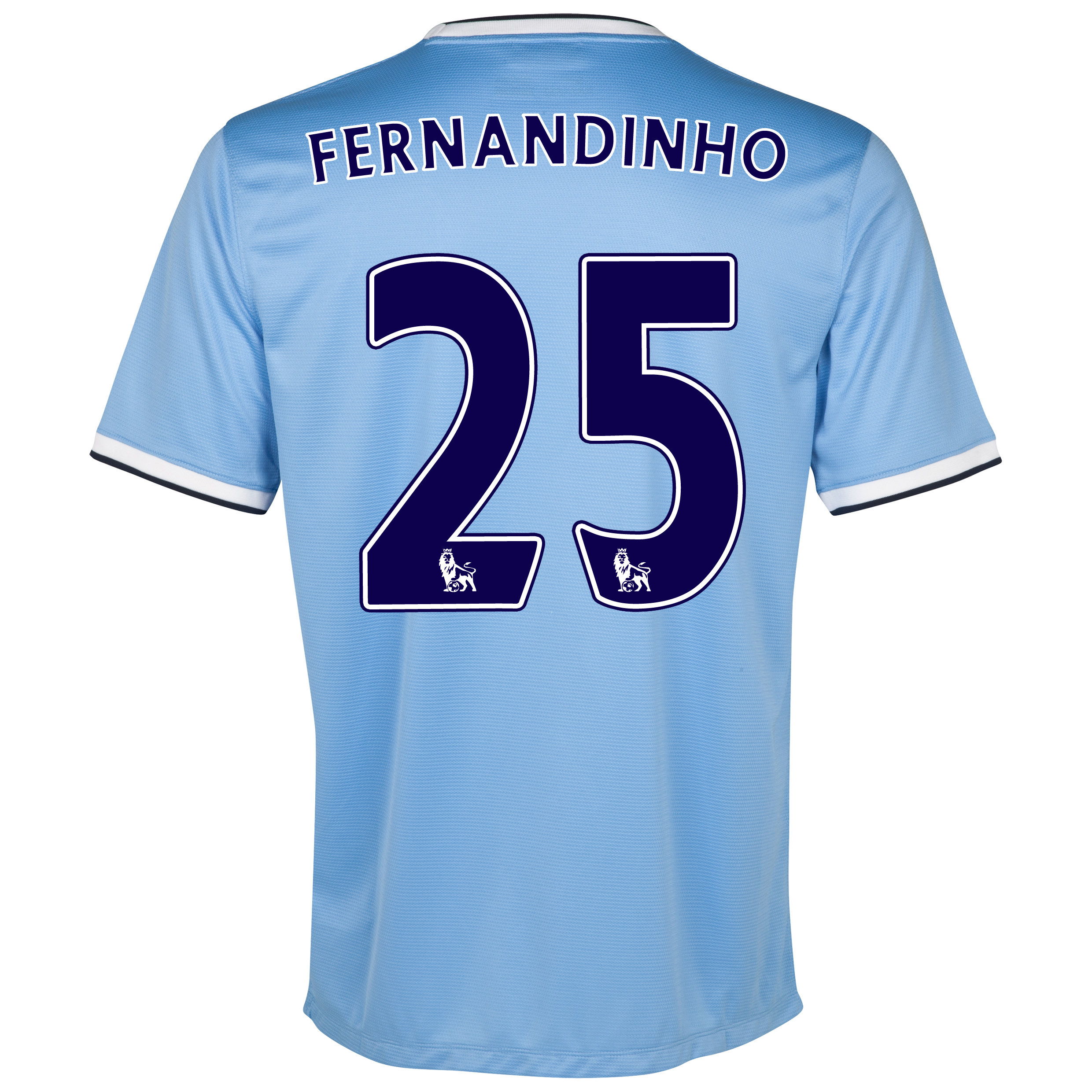 Manchester City Home Shirt 2013/14 - Junior with Fernandinho 25 printing