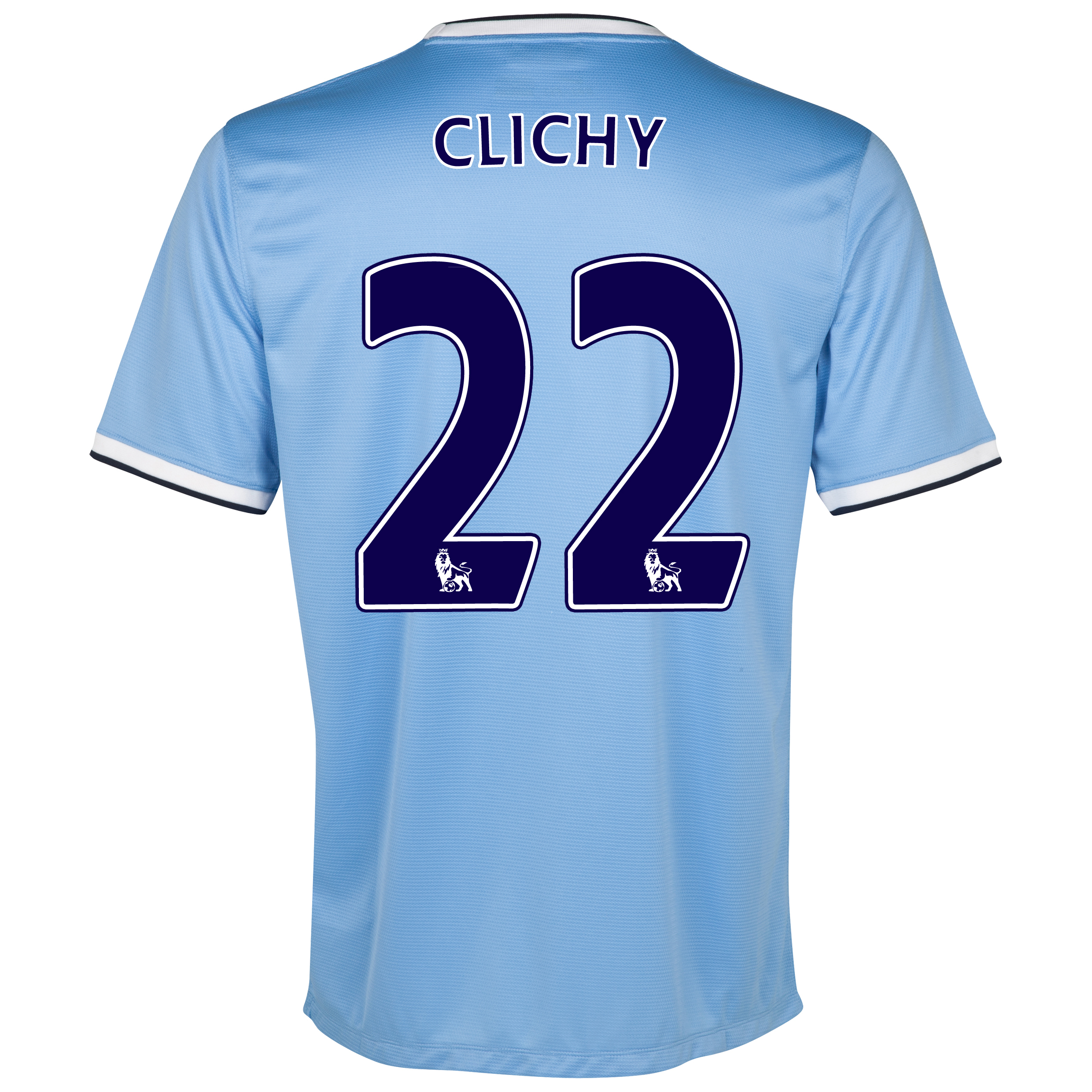 Manchester City Home Shirt 2013/14 - Womens with Clichy 22 printing