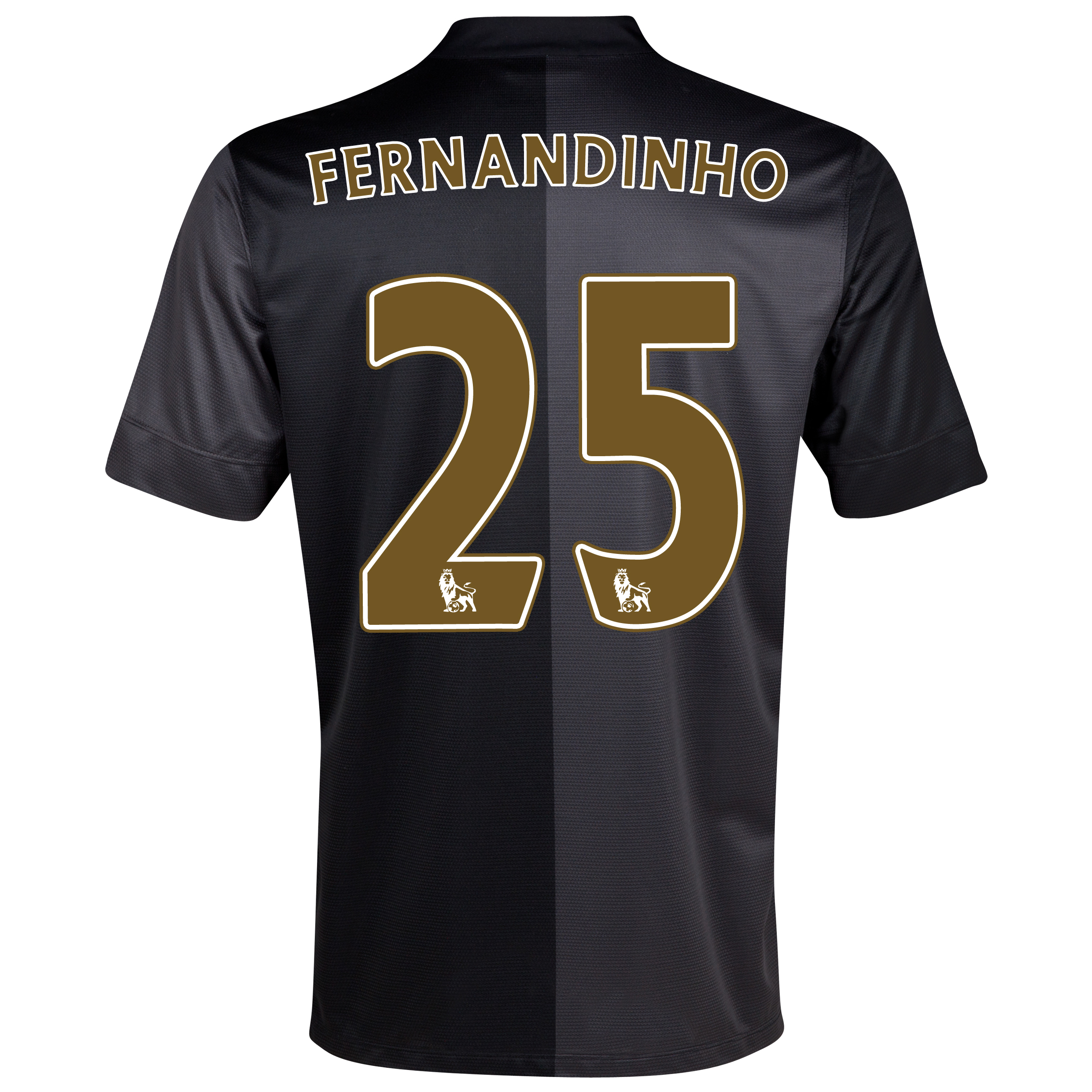Manchester City Away Shirt 2013/14 with Fernandinho 25 printing