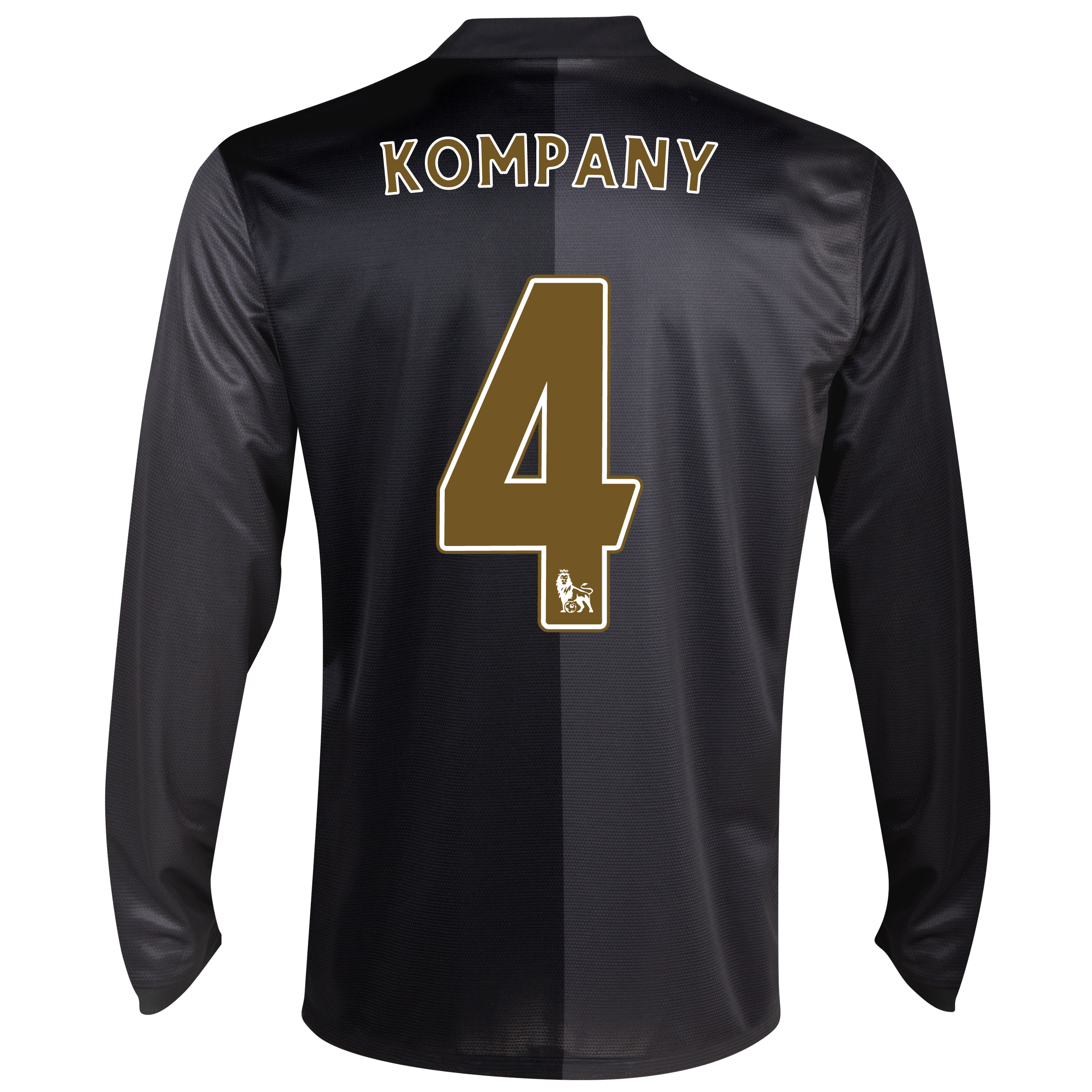 Manchester City Away Shirt 2013/14 - Long Sleeved with Kompany 4 printing