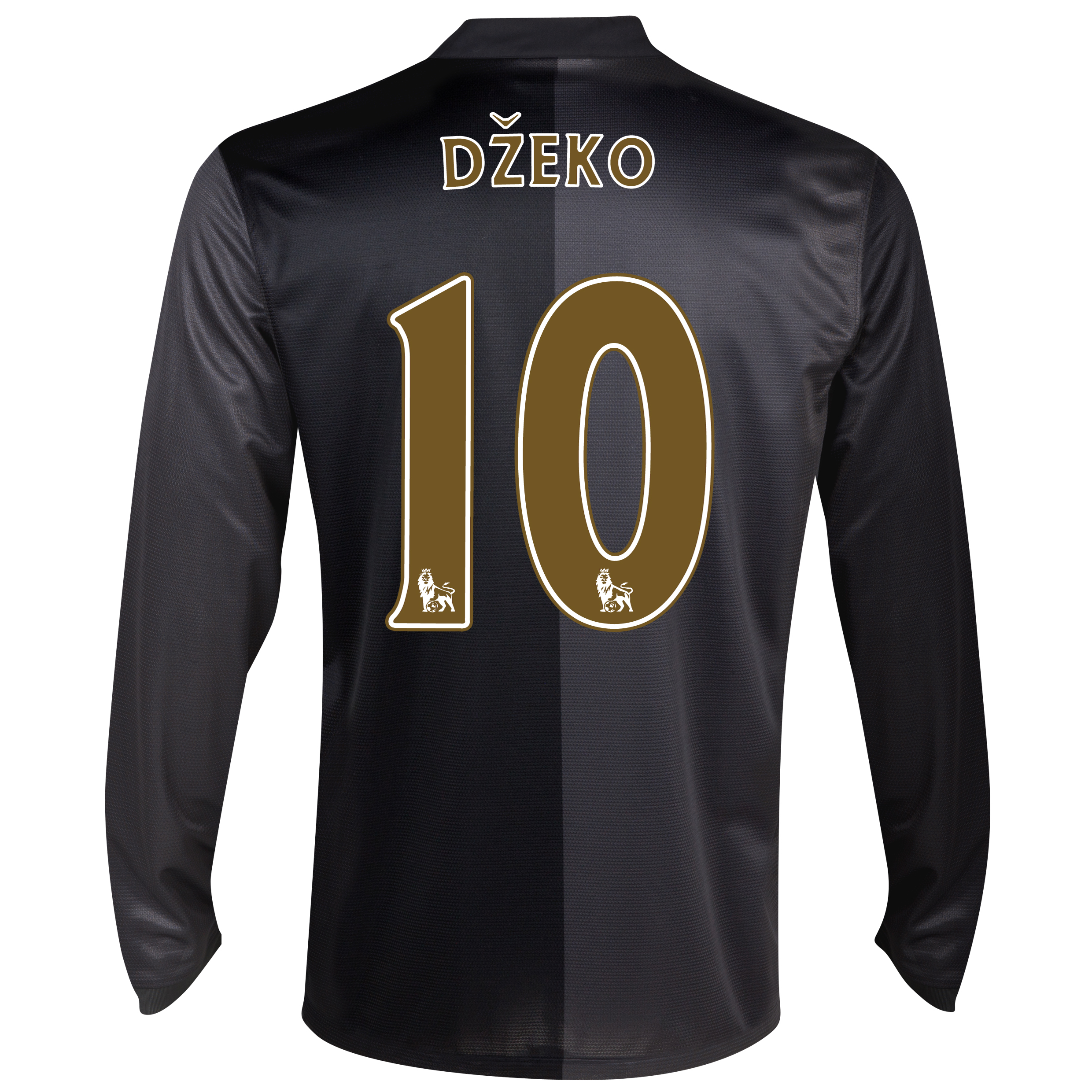 Manchester City Away Shirt 2013/14 - Long Sleeved with Dzeko 10 printing