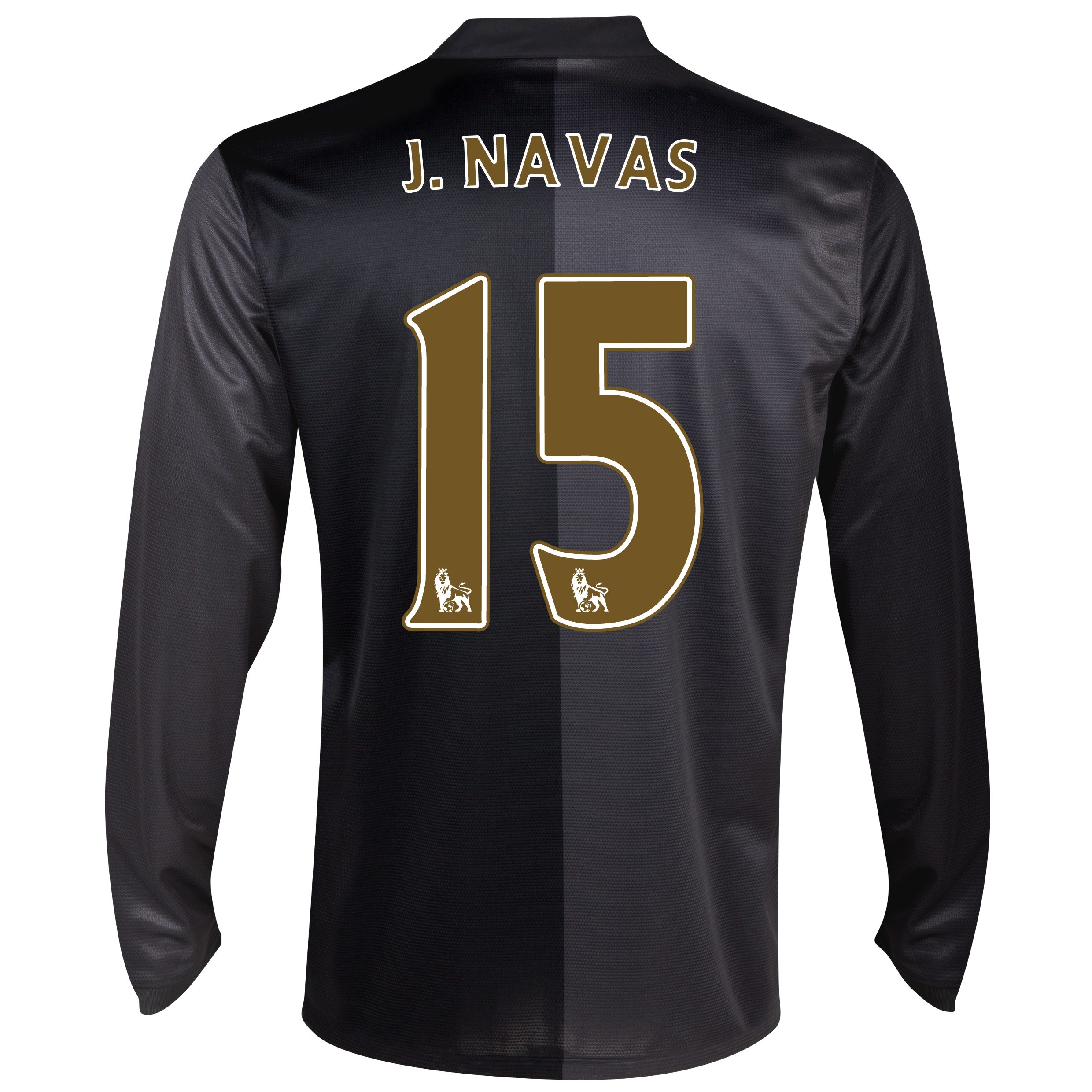Manchester City Away Shirt 2013/14 - Long Sleeved with J.Navas 15 printing