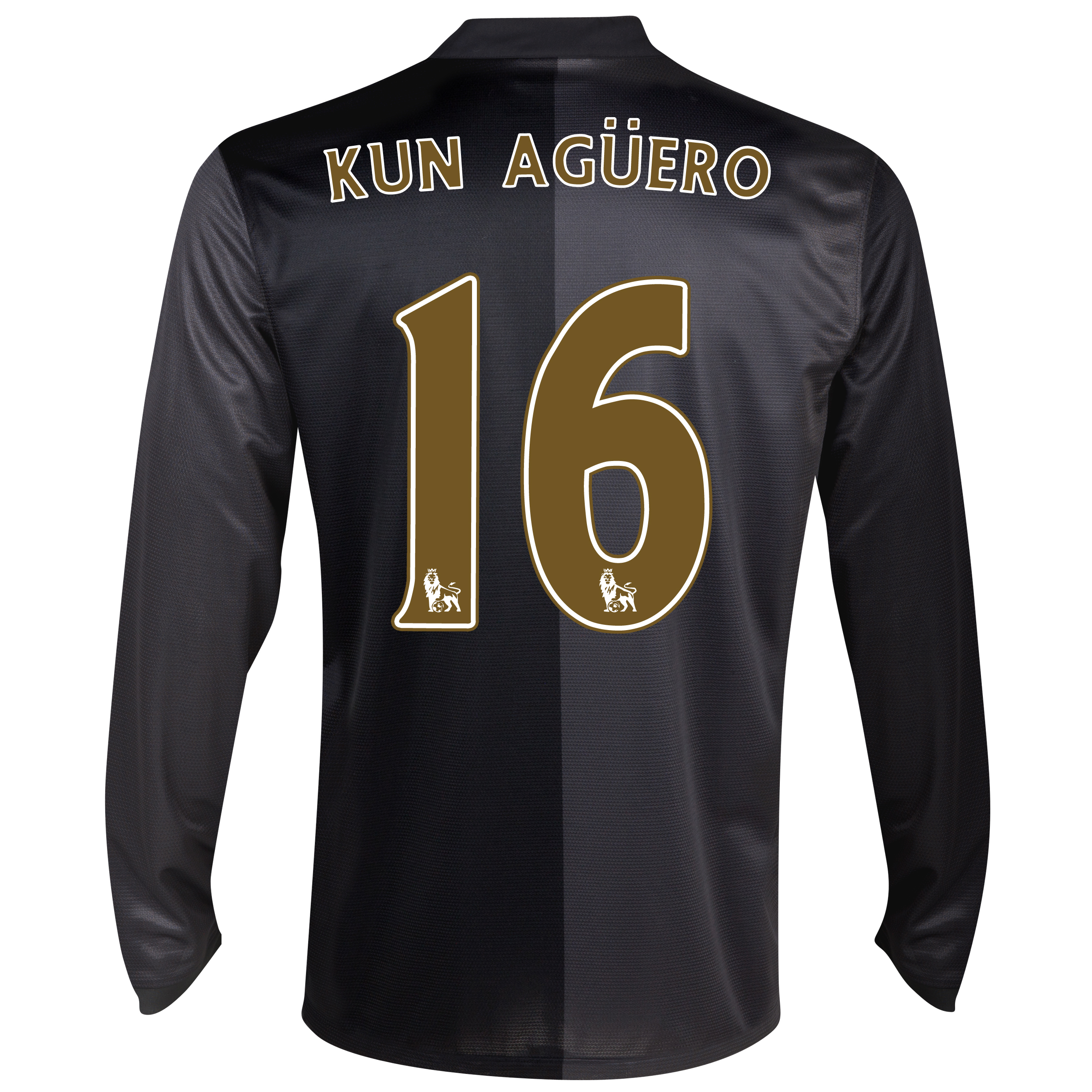 Manchester City Away Shirt 2013/14 - Long Sleeved with Kun Agüero  16 printing