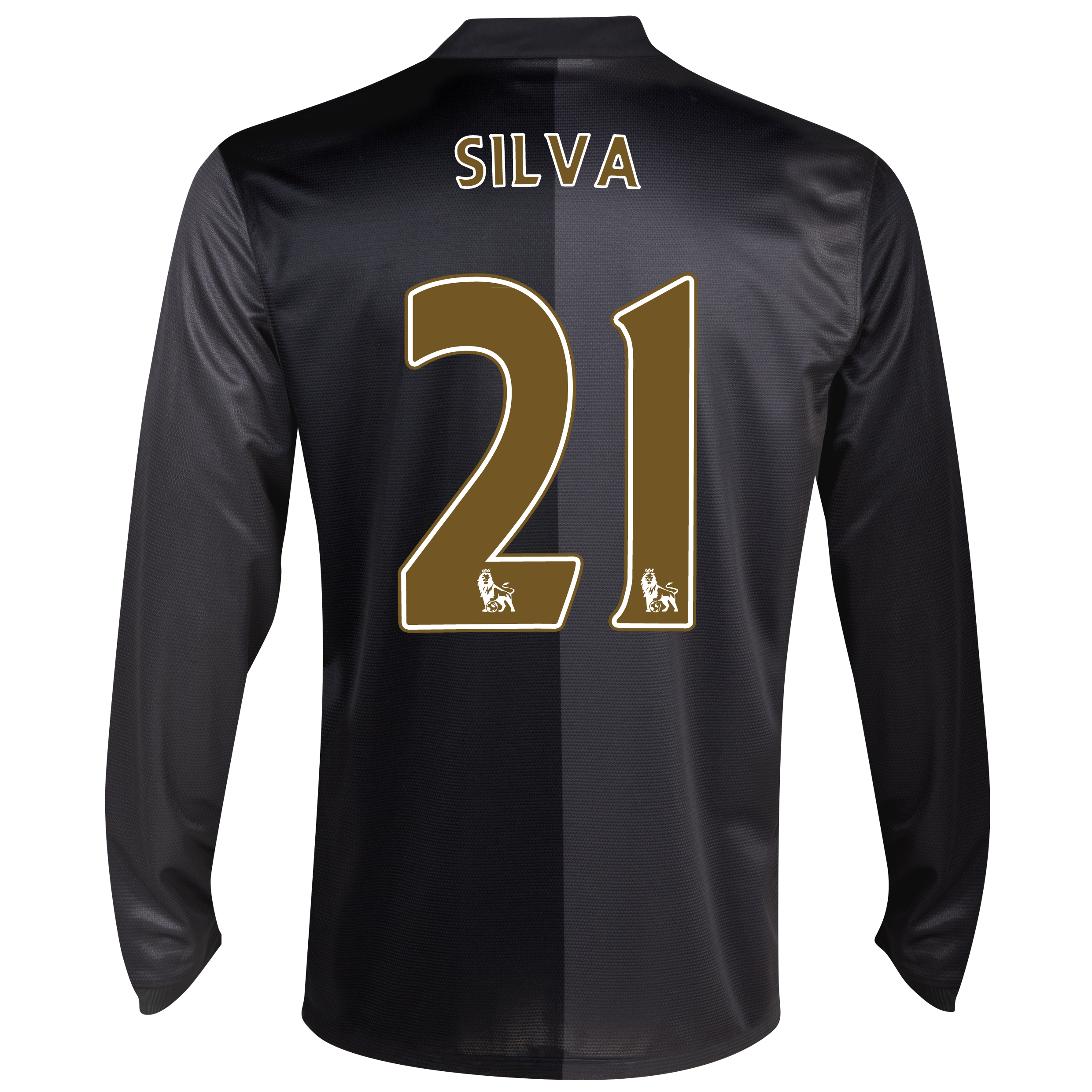 Manchester City Away Shirt 2013/14 - Long Sleeved with Silva 21 printing