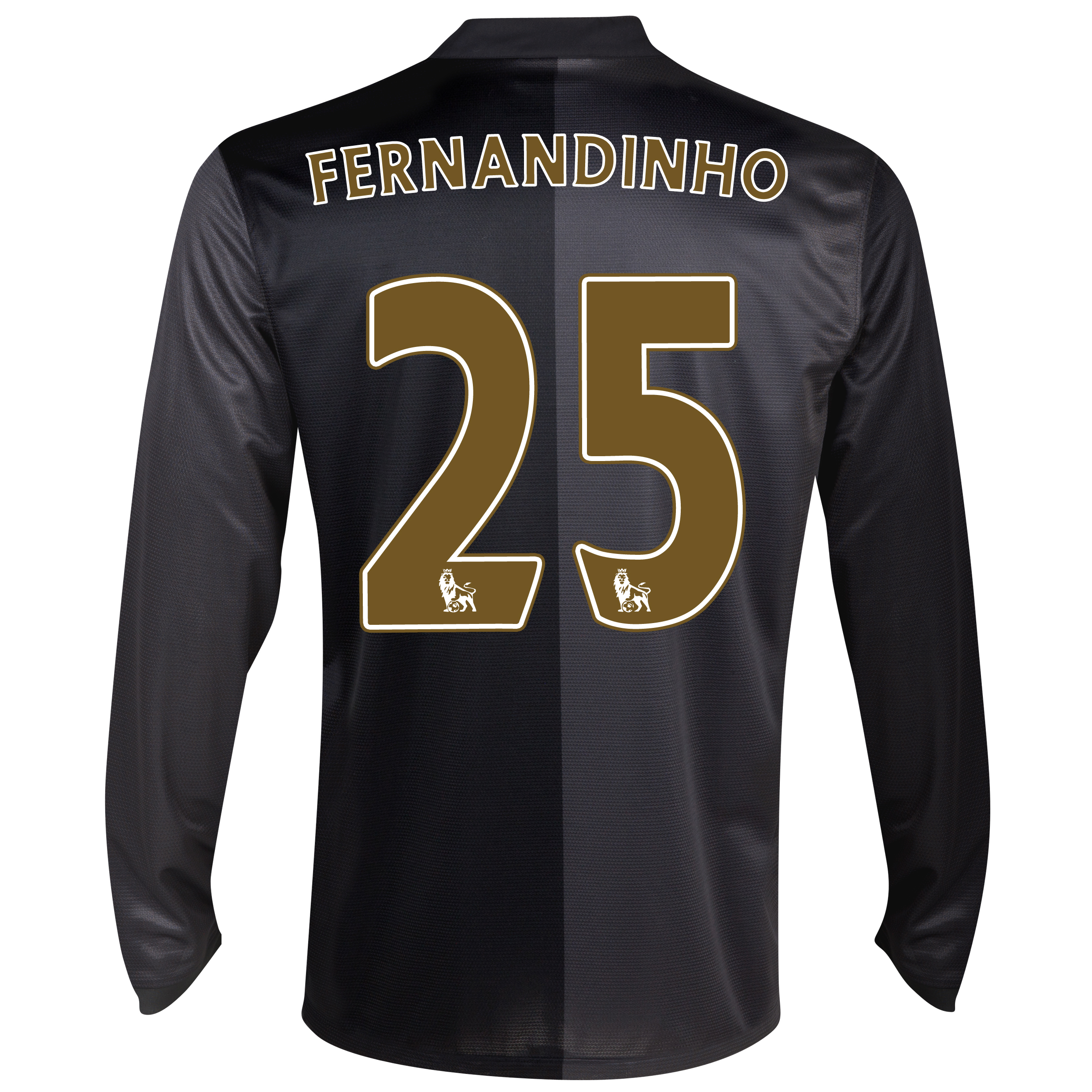 Manchester City Away Shirt 2013/14 - Long Sleeved with Fernandinho 25 printing