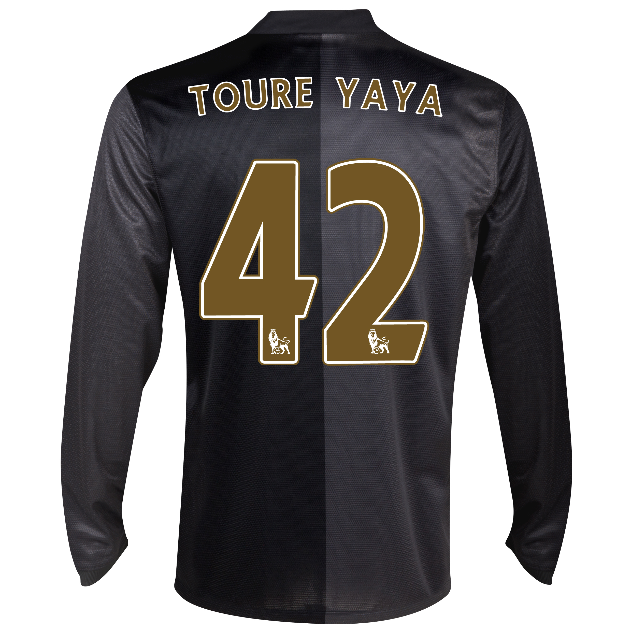 Manchester City Away Shirt 2013/14 - Long Sleeved with Toure Yaya 42 printing