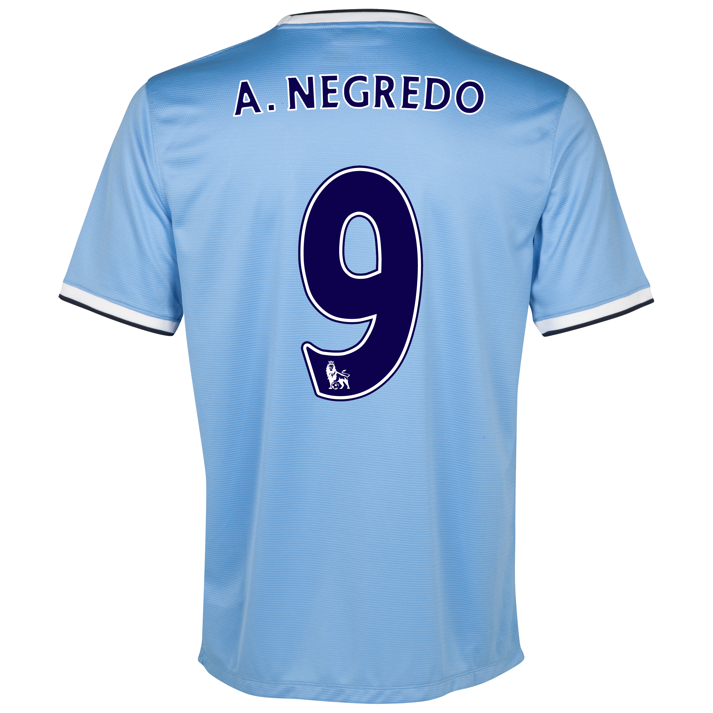Manchester City Home Shirt 2013/14 with A.Negredo 9 printing