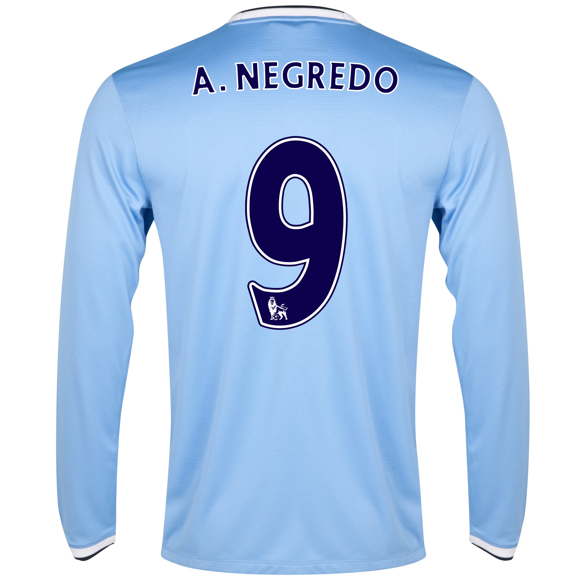 Manchester City Home Shirt 2013/14 - Long Sleeved with A.Negredo 9 printing
