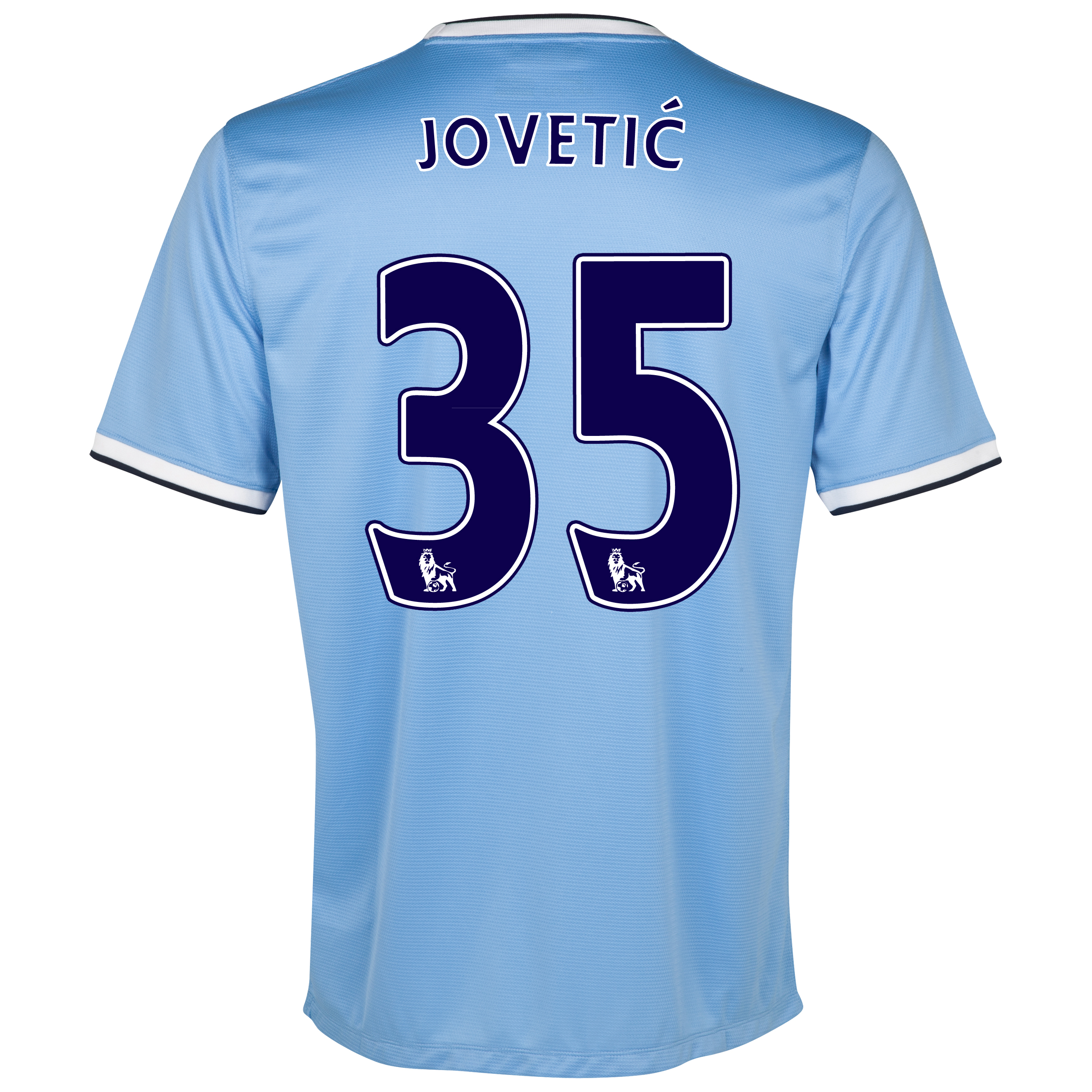 Manchester City Home Shirt 2013/14 with Jovetic 35 printing