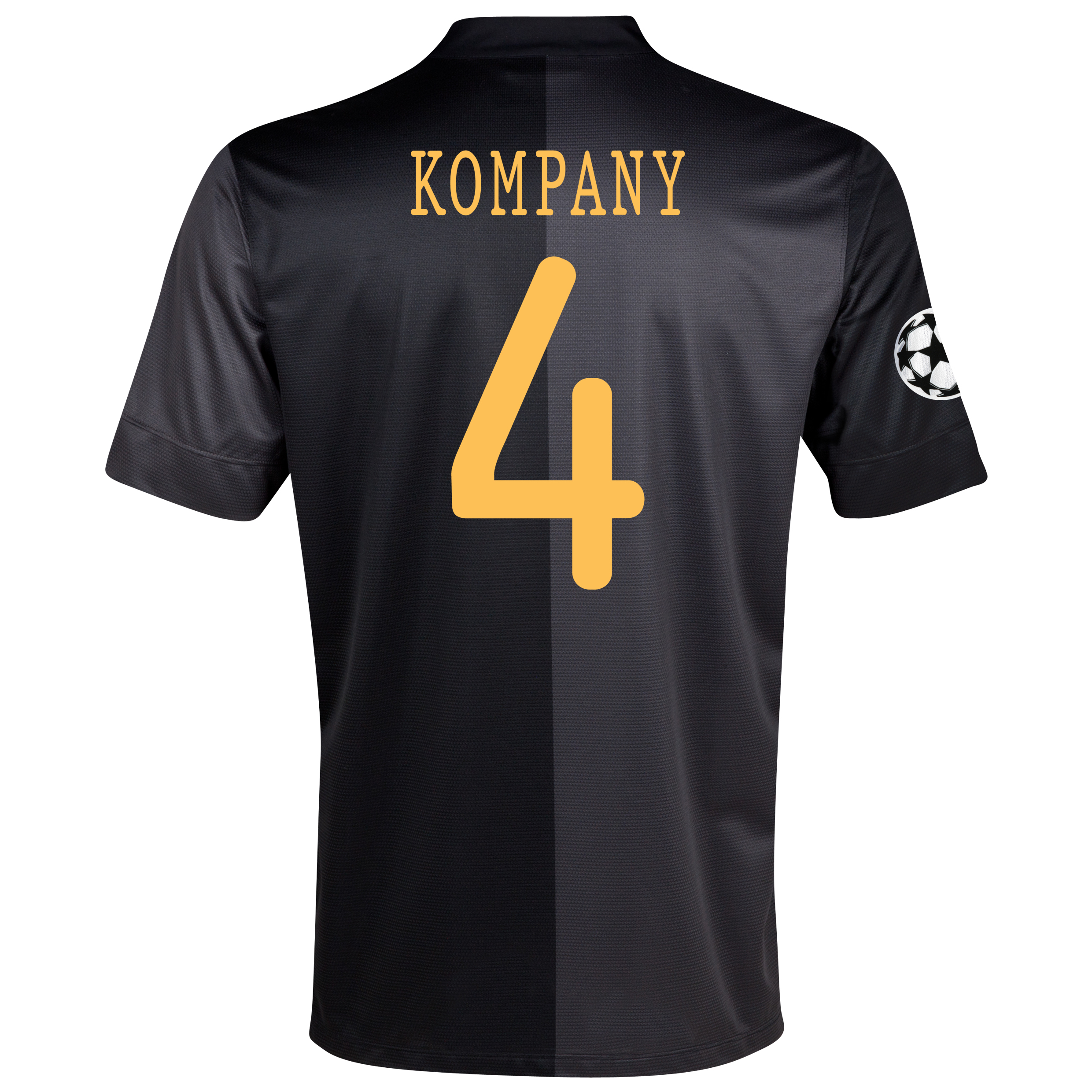 Manchester City UEFA Champions League Away Shirt 2013/14 with Kompany 4 printing