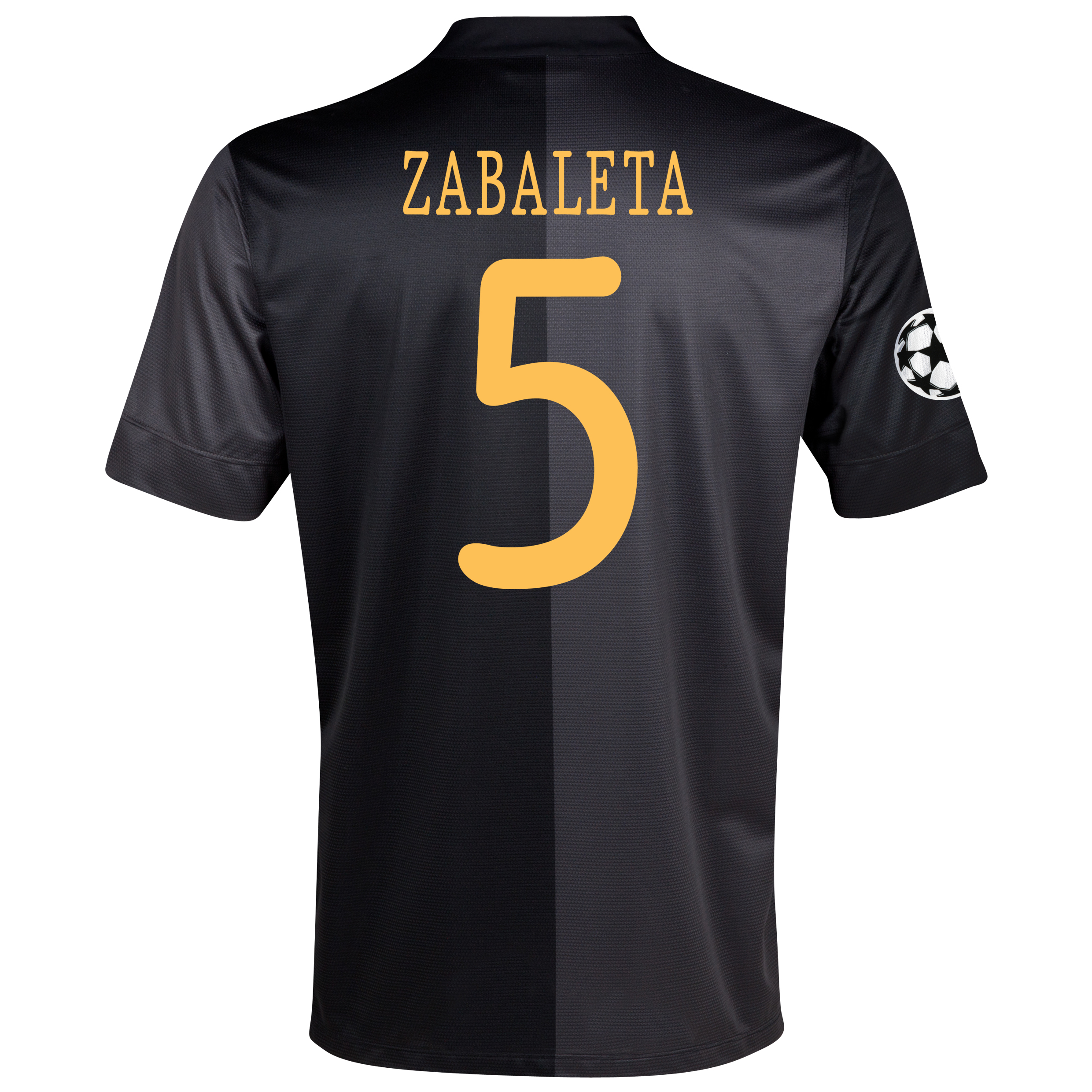 Manchester City UEFA Champions League Away Shirt 2013/14 with Zabaleta 5 printing