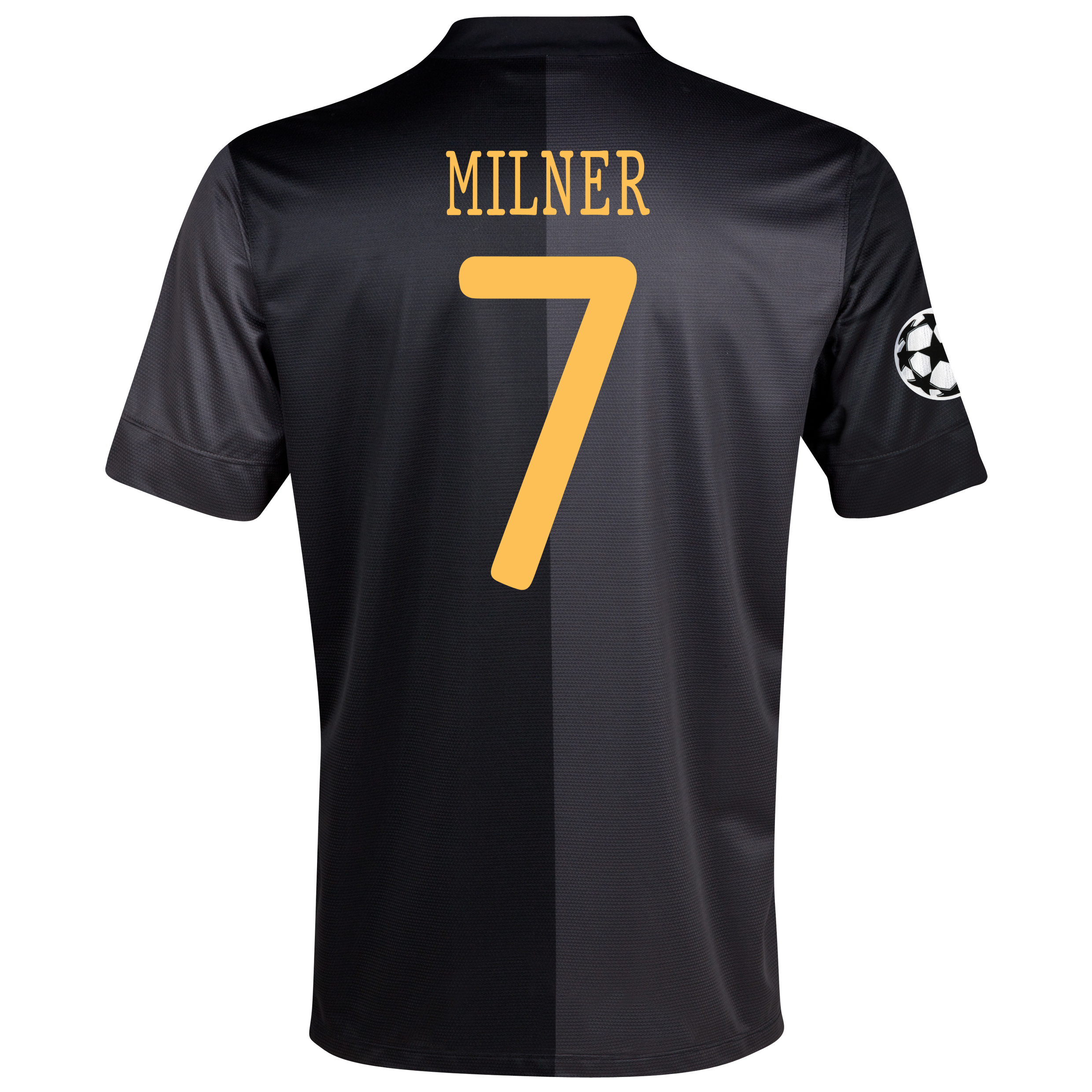 Manchester City UEFA Champions League Away Shirt 2013/14 with Milner 7 printing
