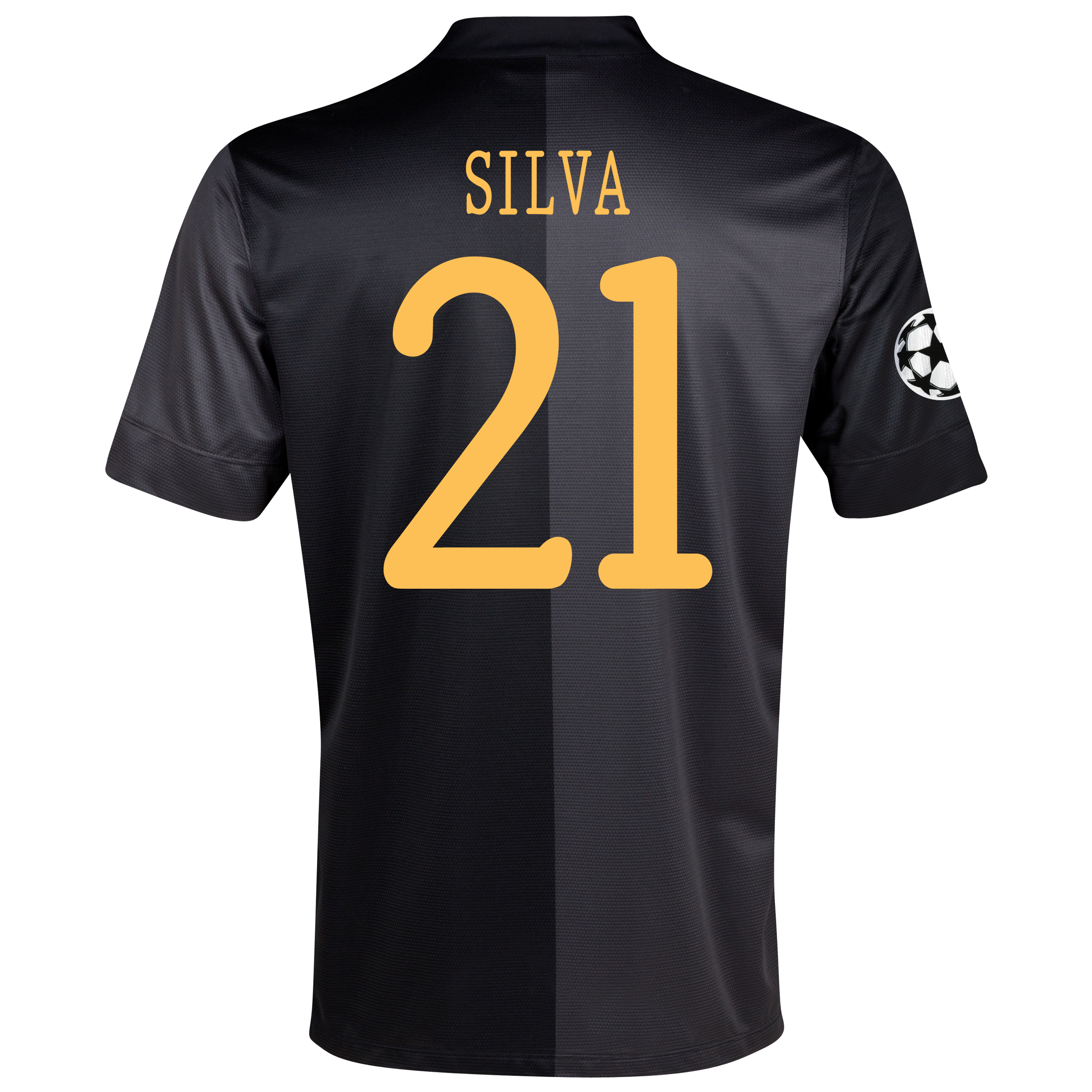 Manchester City UEFA Champions League Away Shirt 2013/14 with Silva 21 printing