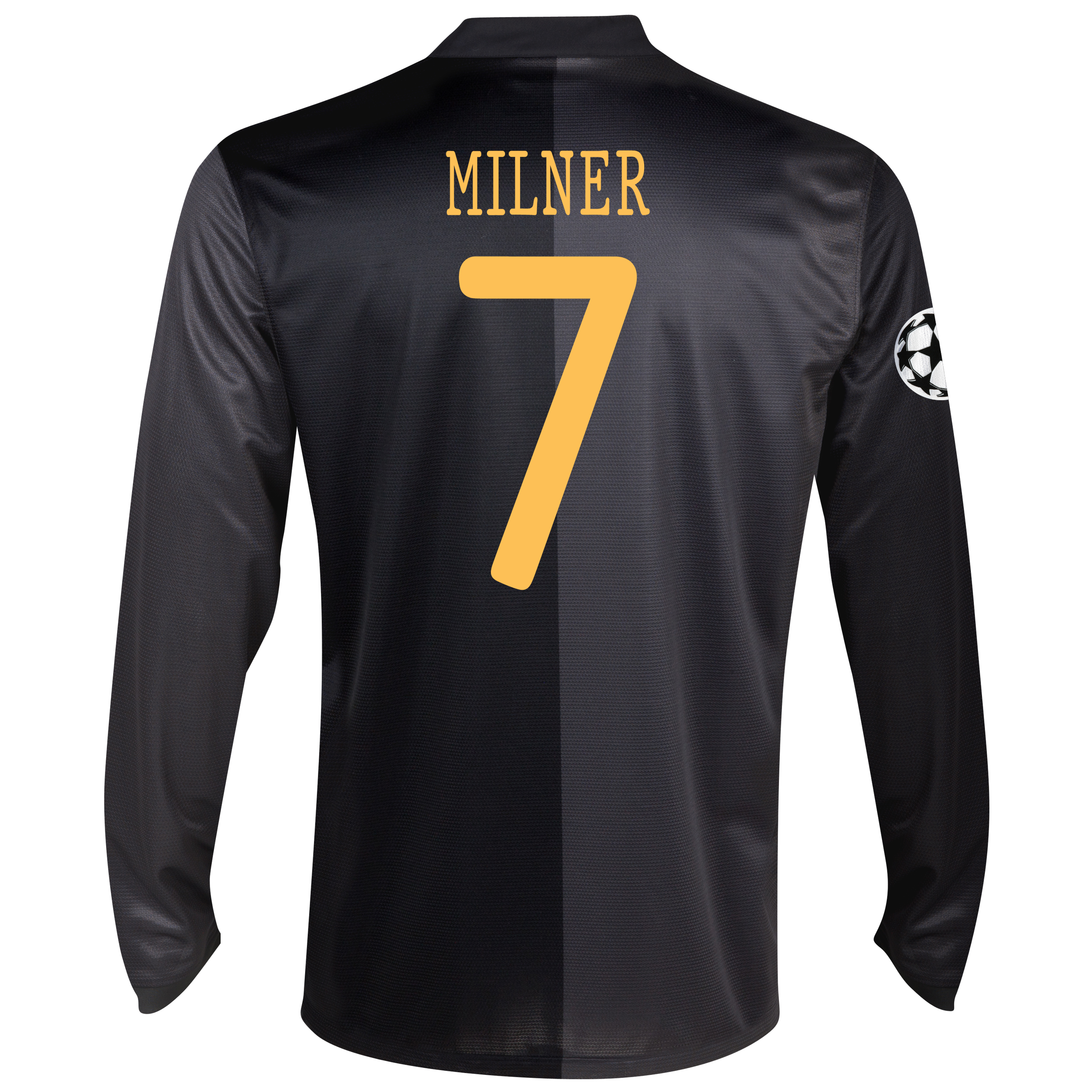 Manchester City UEFA Champions League Away Shirt 2013/14 - Long Sleeved with Milner 7 printing