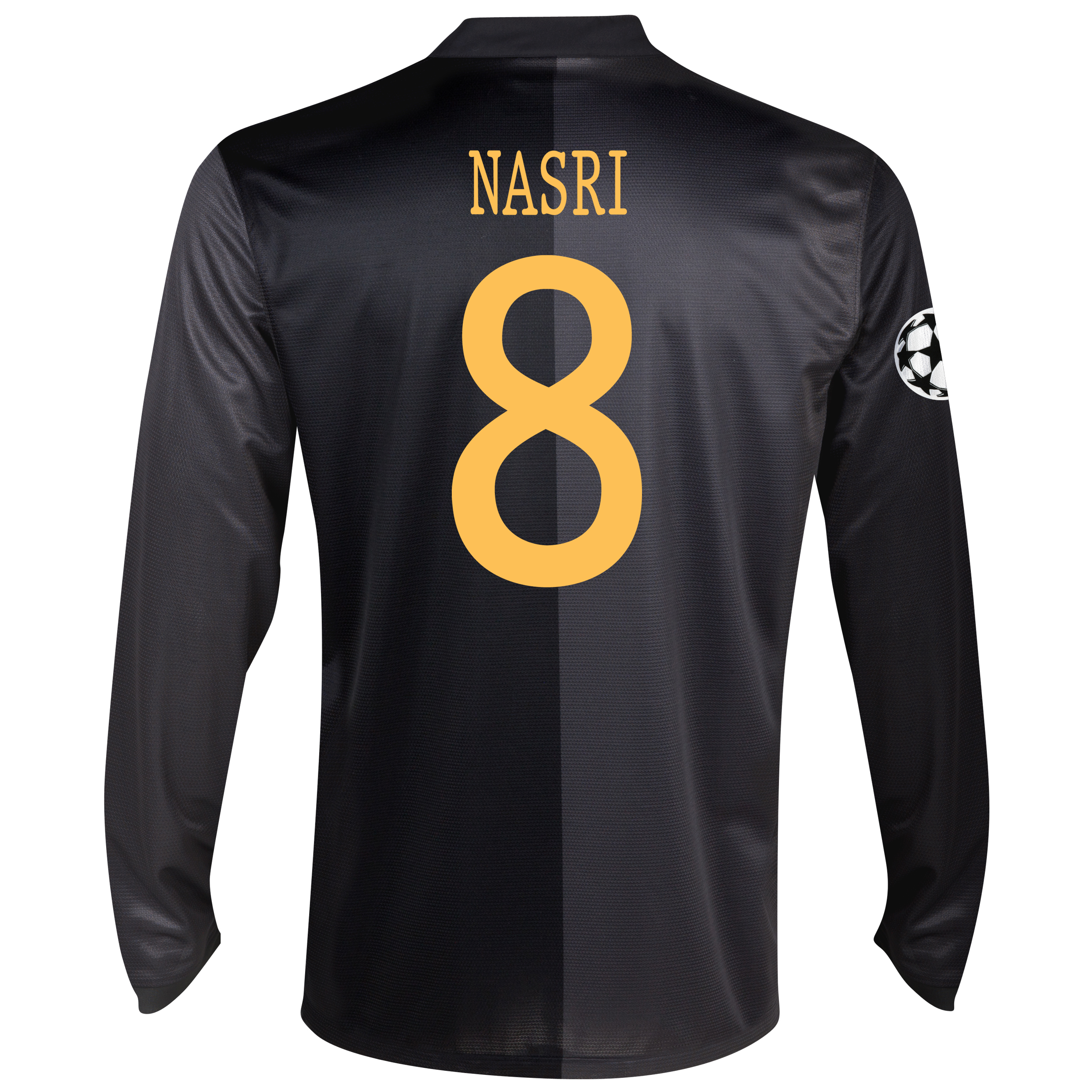 Manchester City UEFA Champions League Away Shirt 2013/14 - Long Sleeved with Nasri 8 printing
