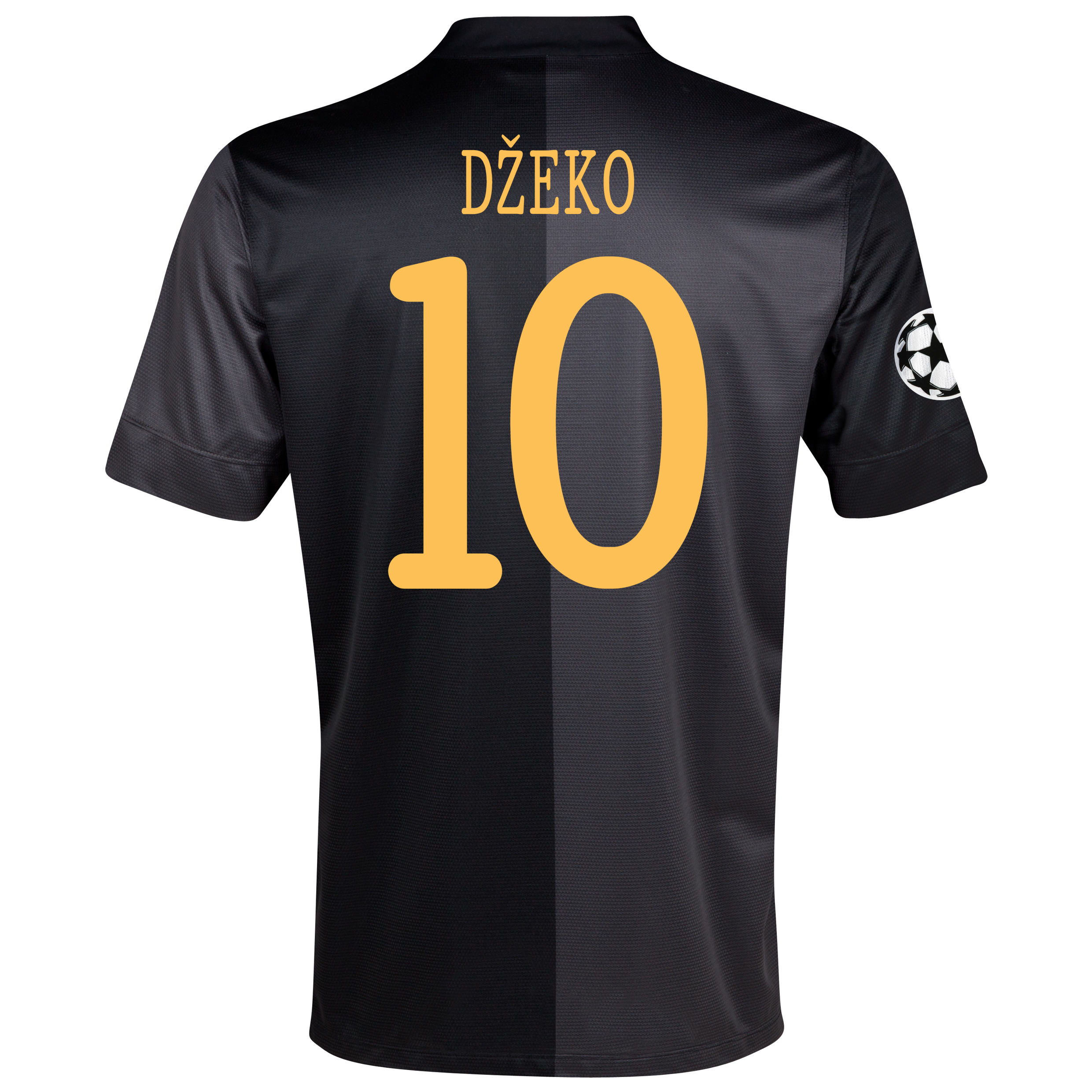 Manchester City UEFA Champions League Away Shirt 2013/14 - Junior with Dzeko 10 printing