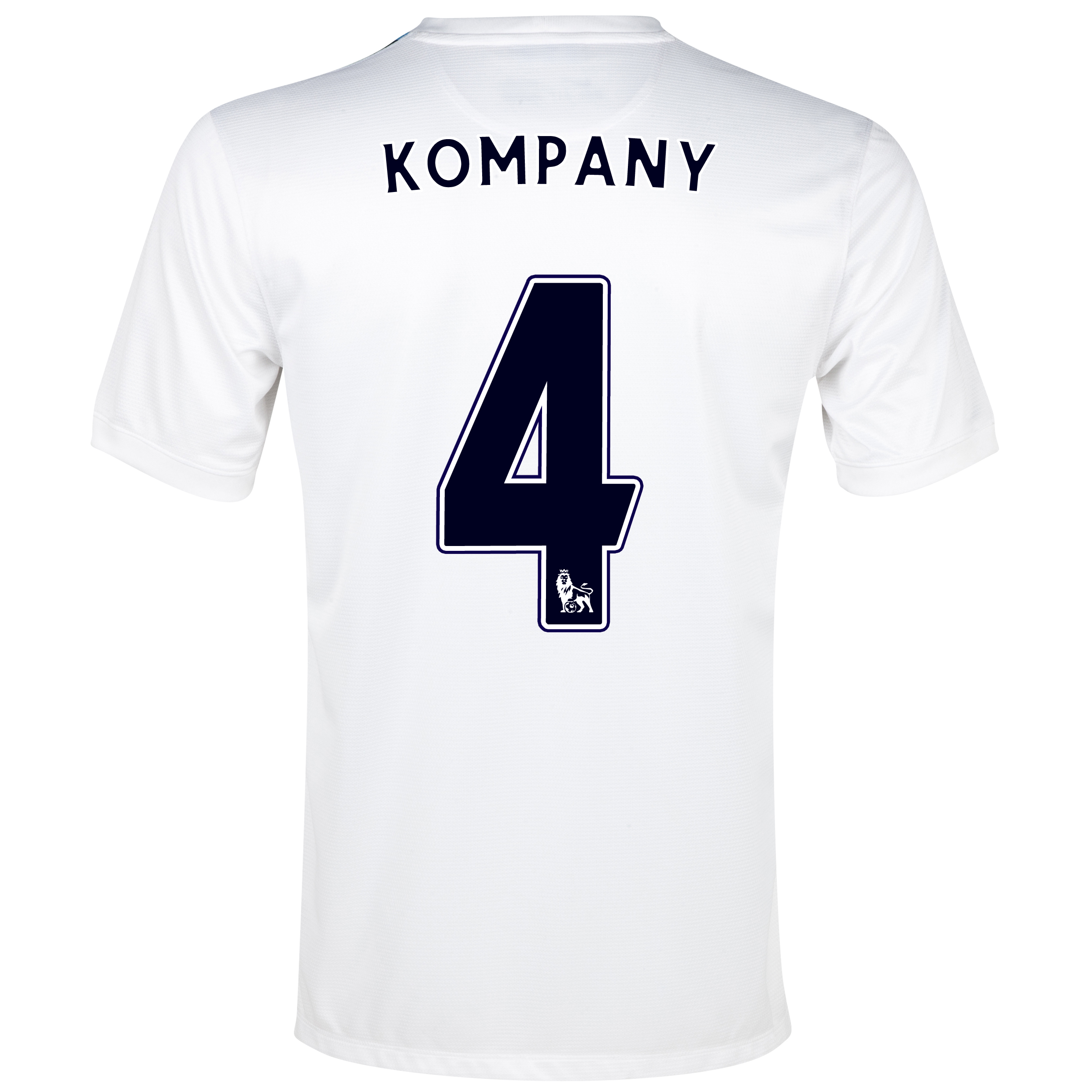 Manchester City Cup Away Shirt 2013/14 White with Kompany 4 printing