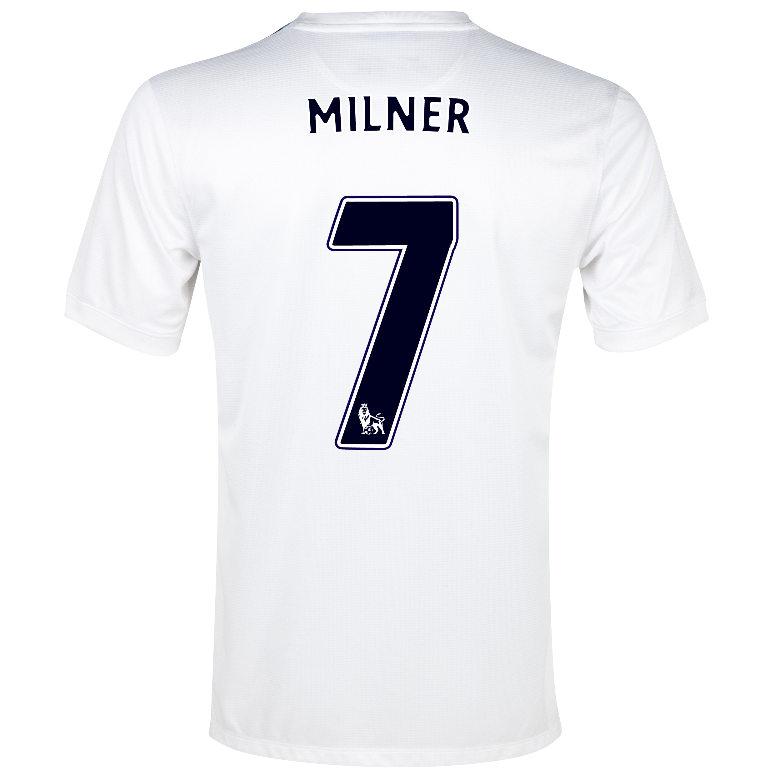 Manchester City Cup Away Shirt 2013/14 White with Milner 7 printing