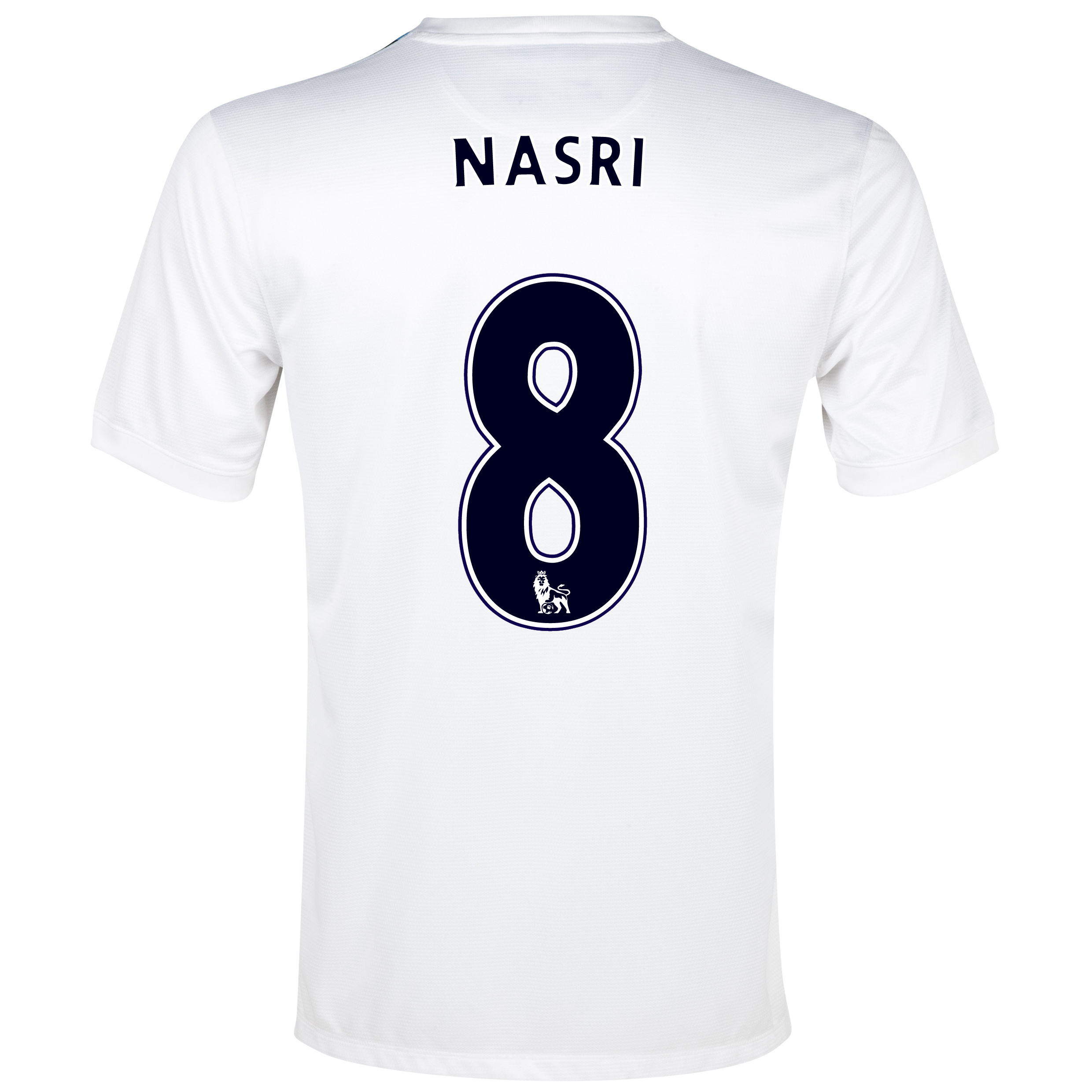 Manchester City Cup Away Shirt 2013/14 White with Nasri 8 printing