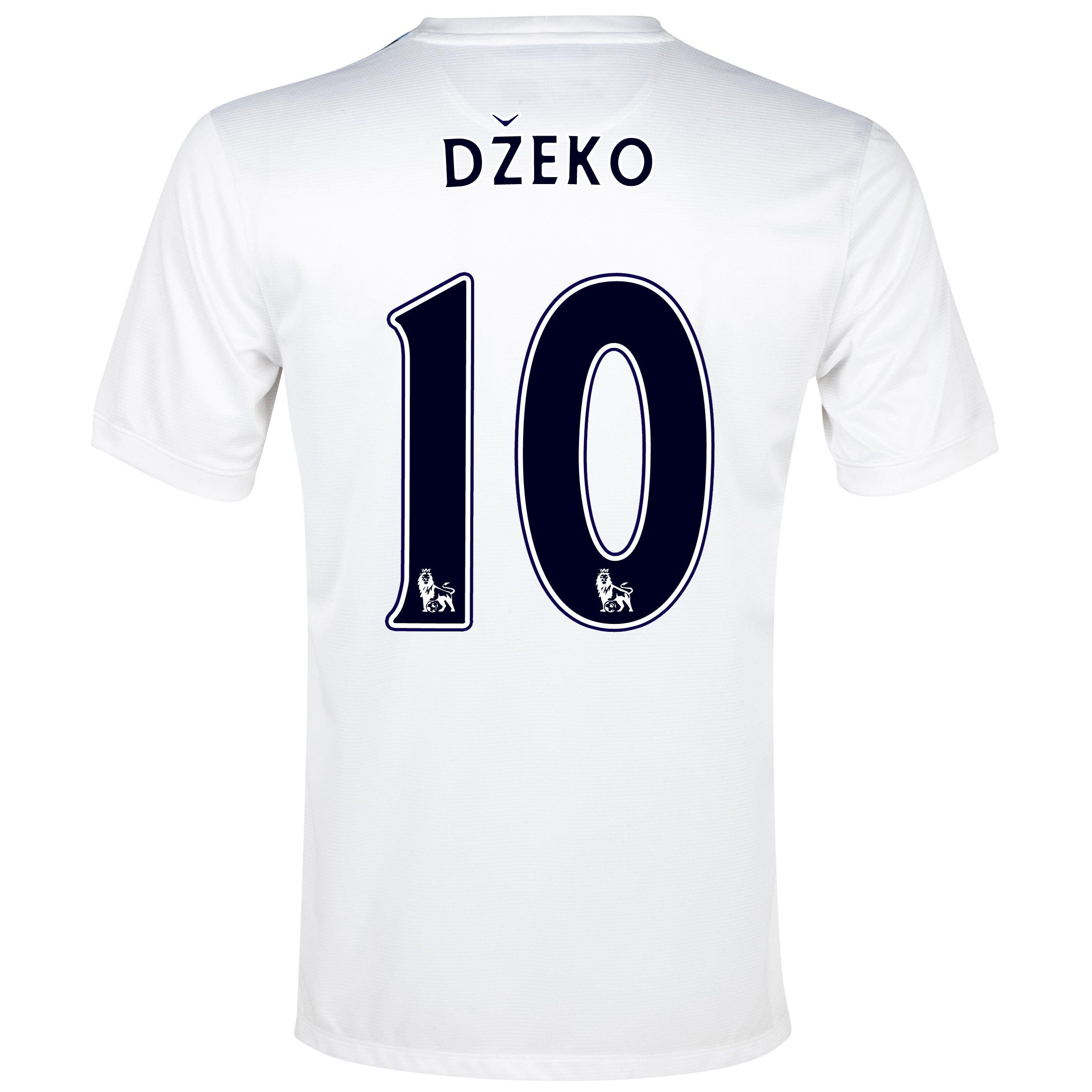 Manchester City Cup Away Shirt 2013/14 White with Dzeko 10 printing