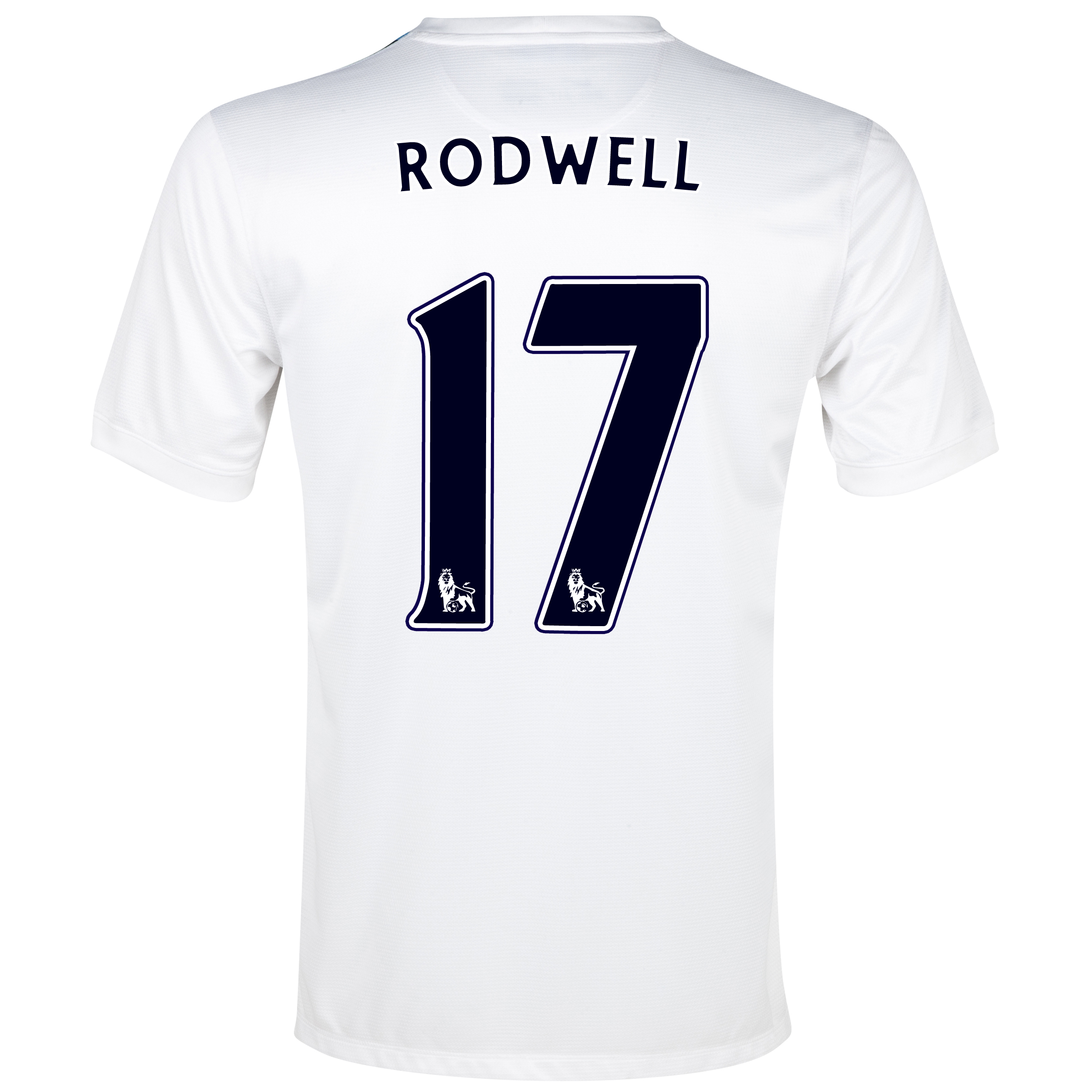 Manchester City Cup Away Shirt 2013/14 White with Rodwell 17 printing
