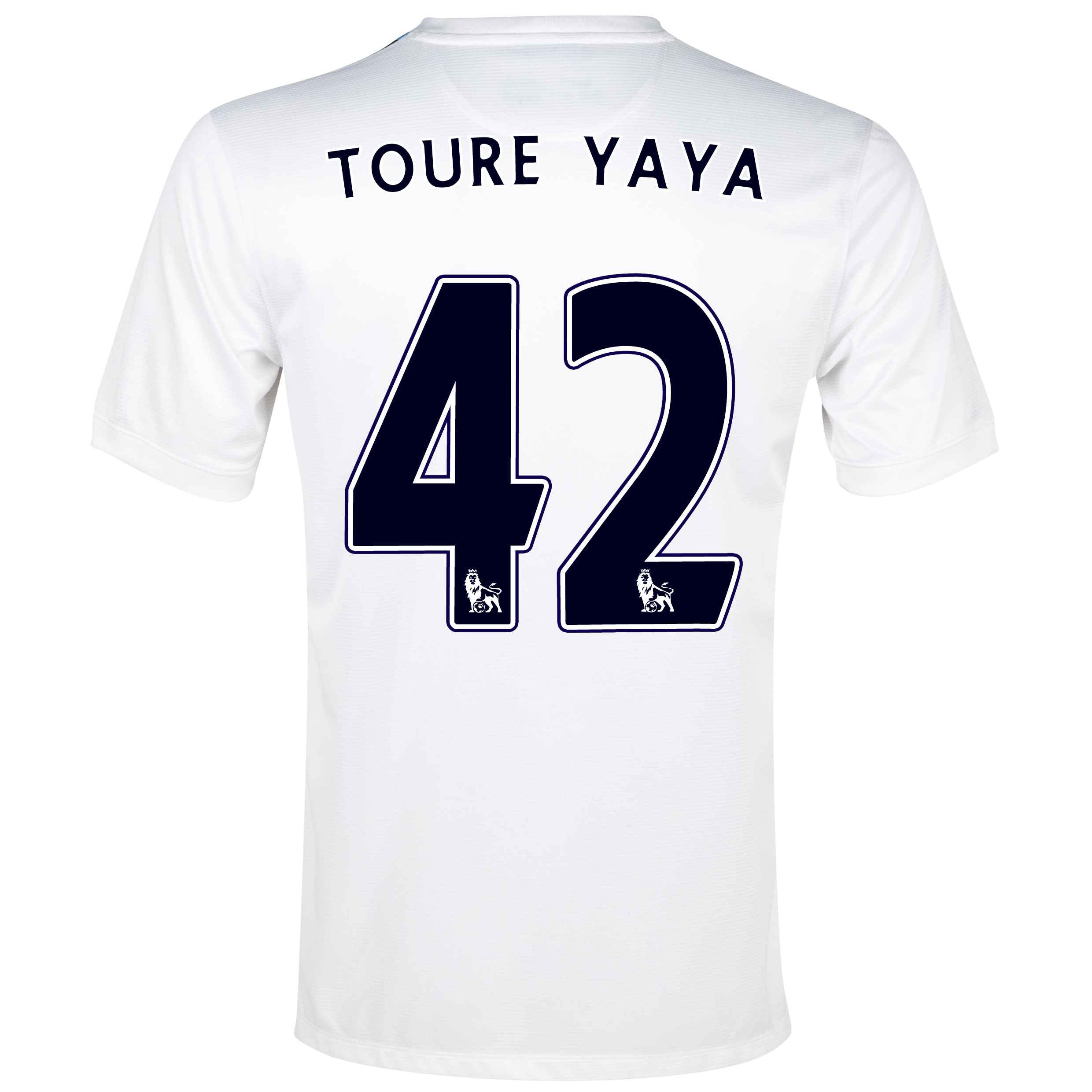 Manchester City Cup Away Shirt 2013/14 White with Toure Yaya 42 printing