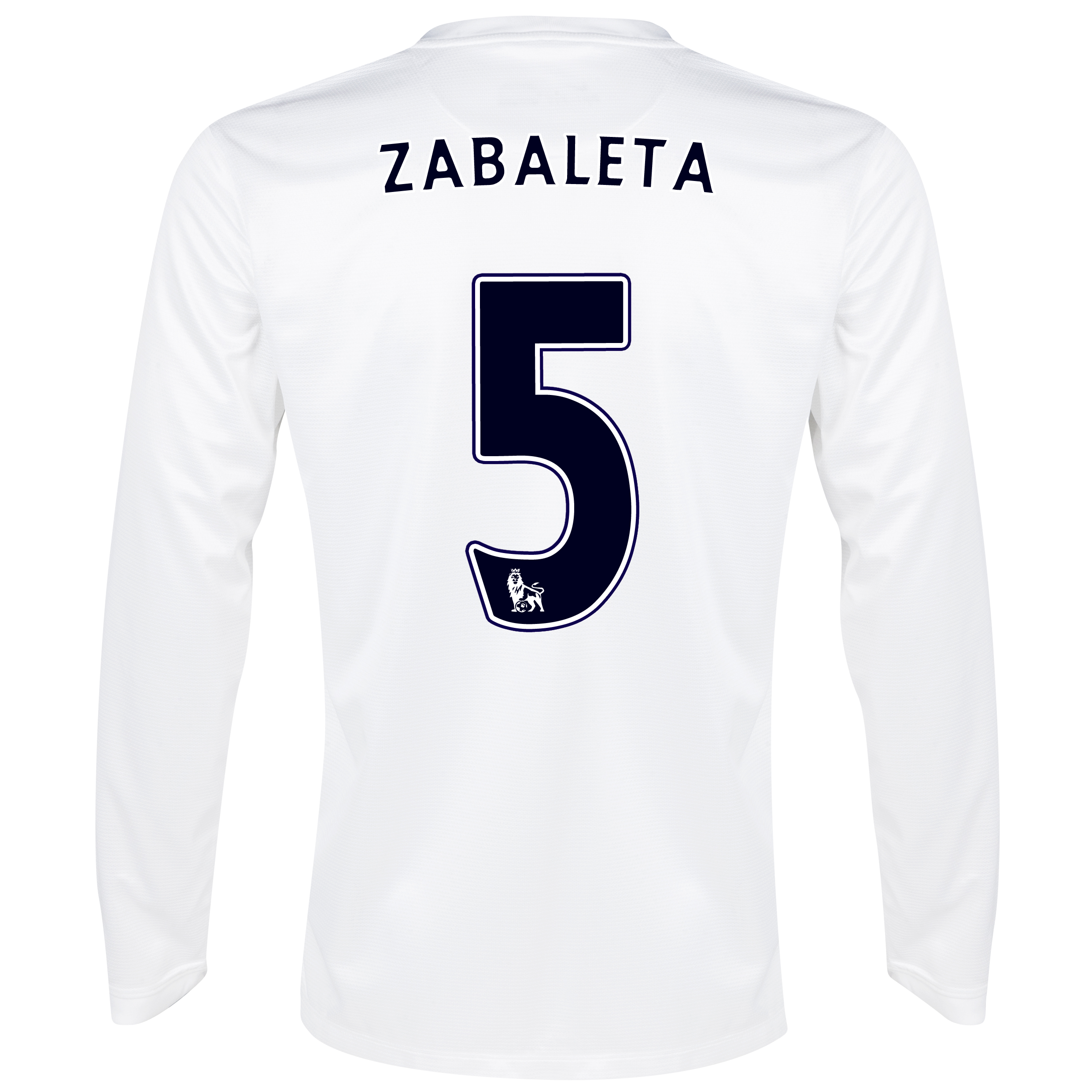 Manchester City Cup Away Shirt 2013/14 - Long Sleeved White with Zabaleta 5 printing