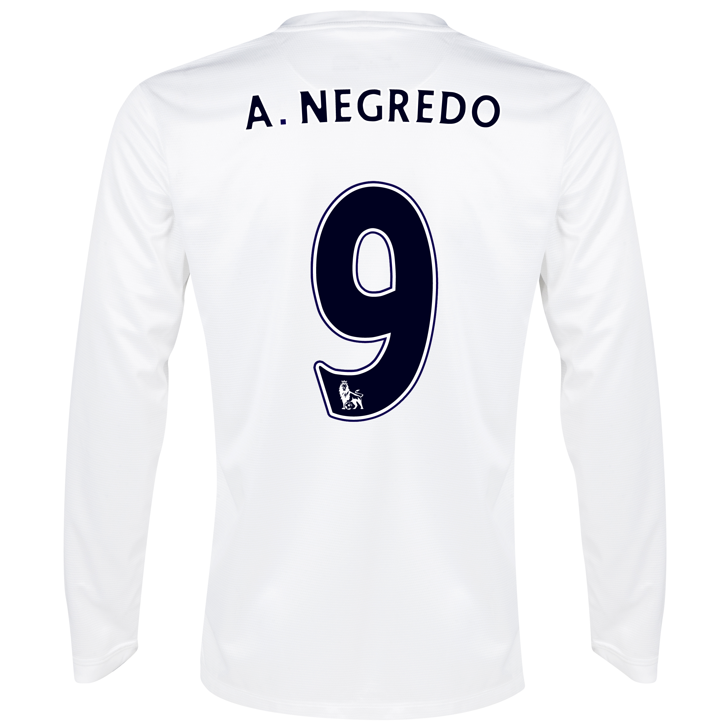 Manchester City Cup Away Shirt 2013/14 - Long Sleeved White with A.Negredo 9 printing