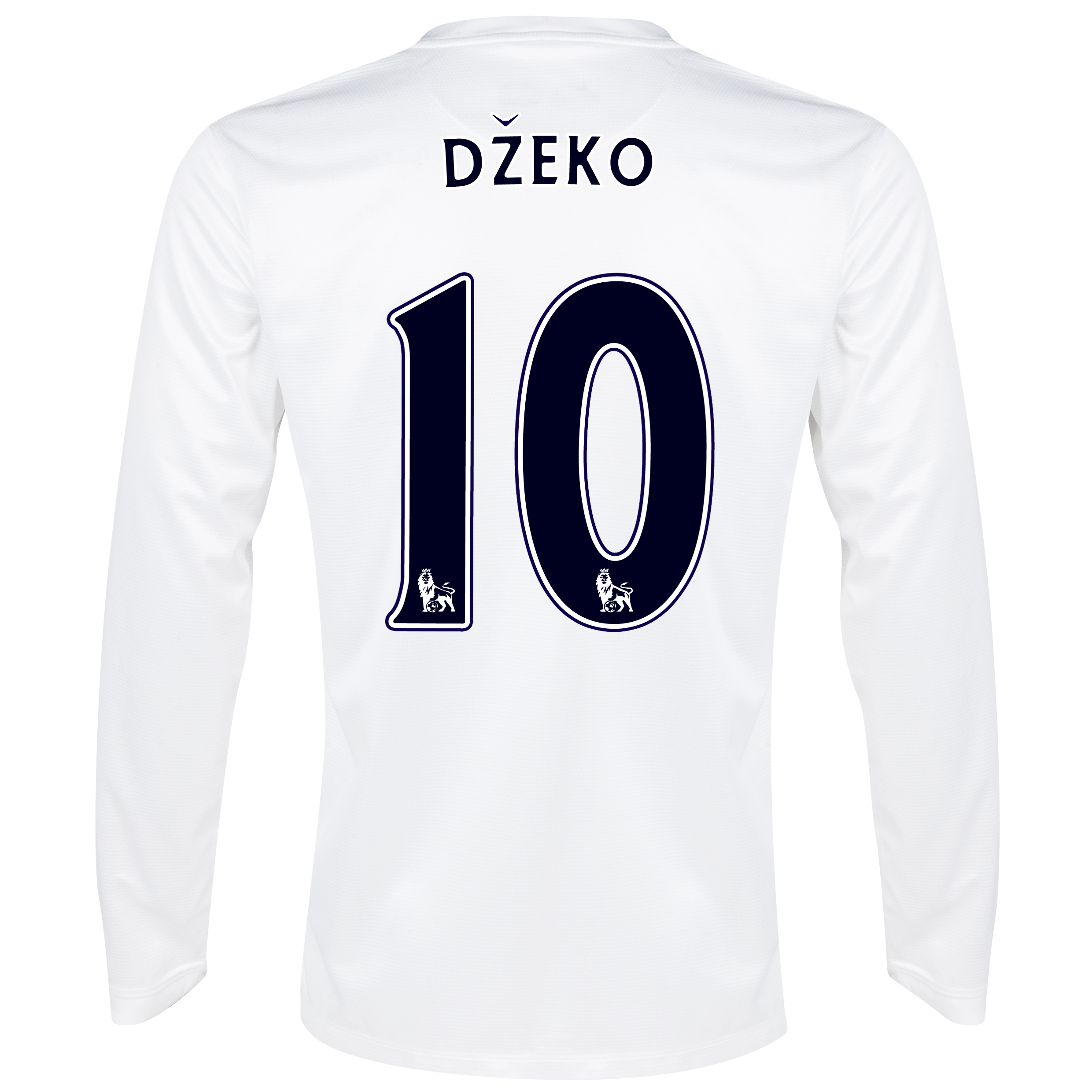 Manchester City Cup Away Shirt 2013/14 - Long Sleeved White with Dzeko 10 printing
